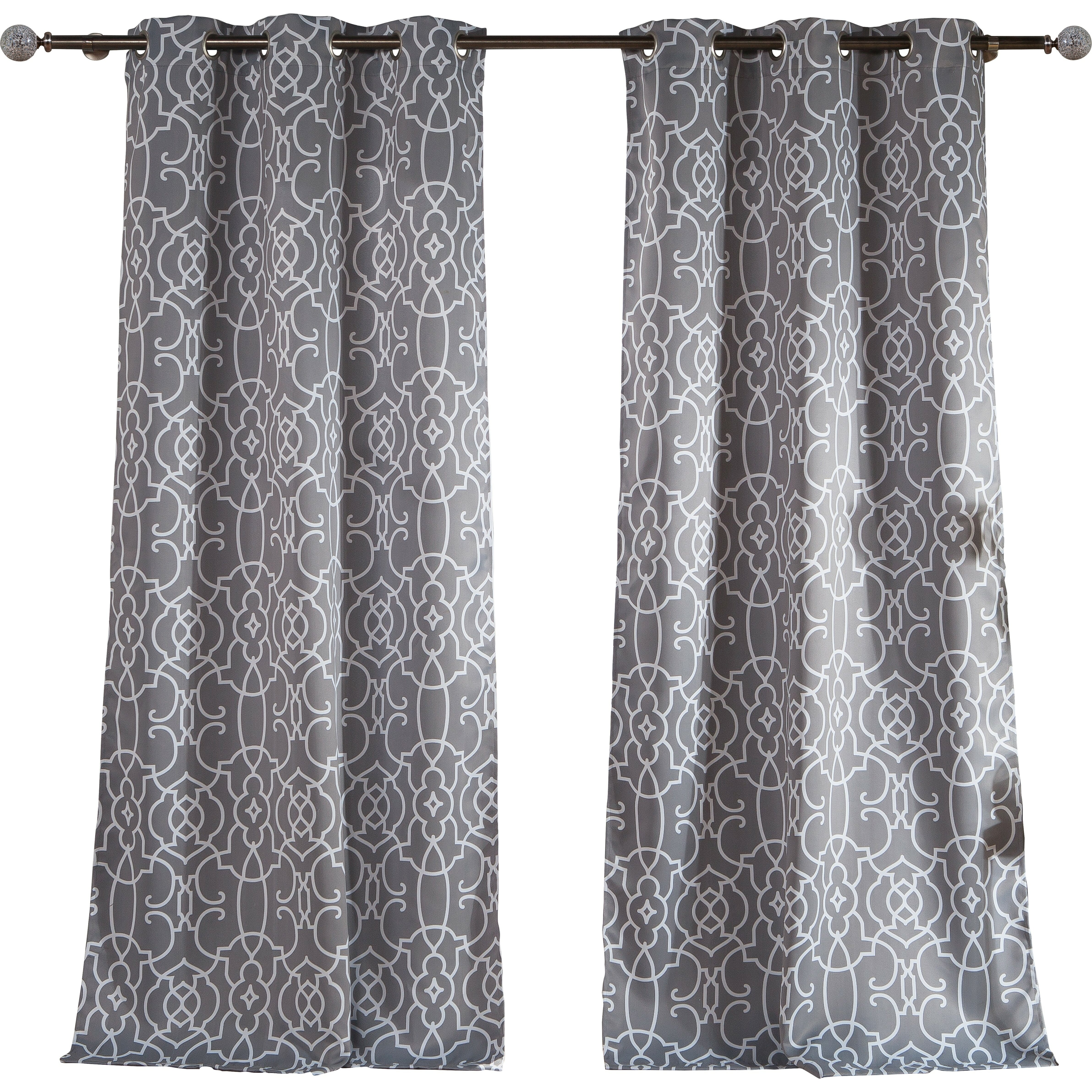Thermal curtains grey - Alcott Hill Reg Barnsdale Blackout Thermal Curtain Panels