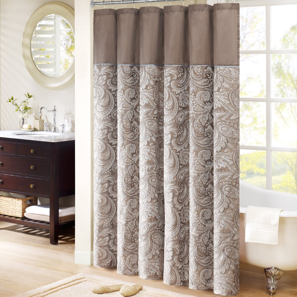 Brown Shower Curtains Youll Love Wayfair - Chocolate coral and gold shower curtain