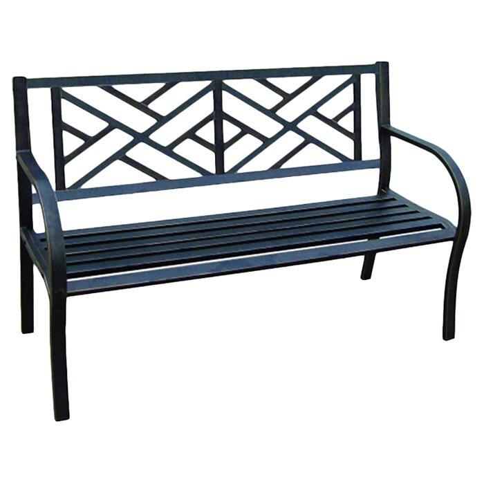 Alcott Hill Crestshire Metal Garden Bench Reviews – Outdoor Iron Bench