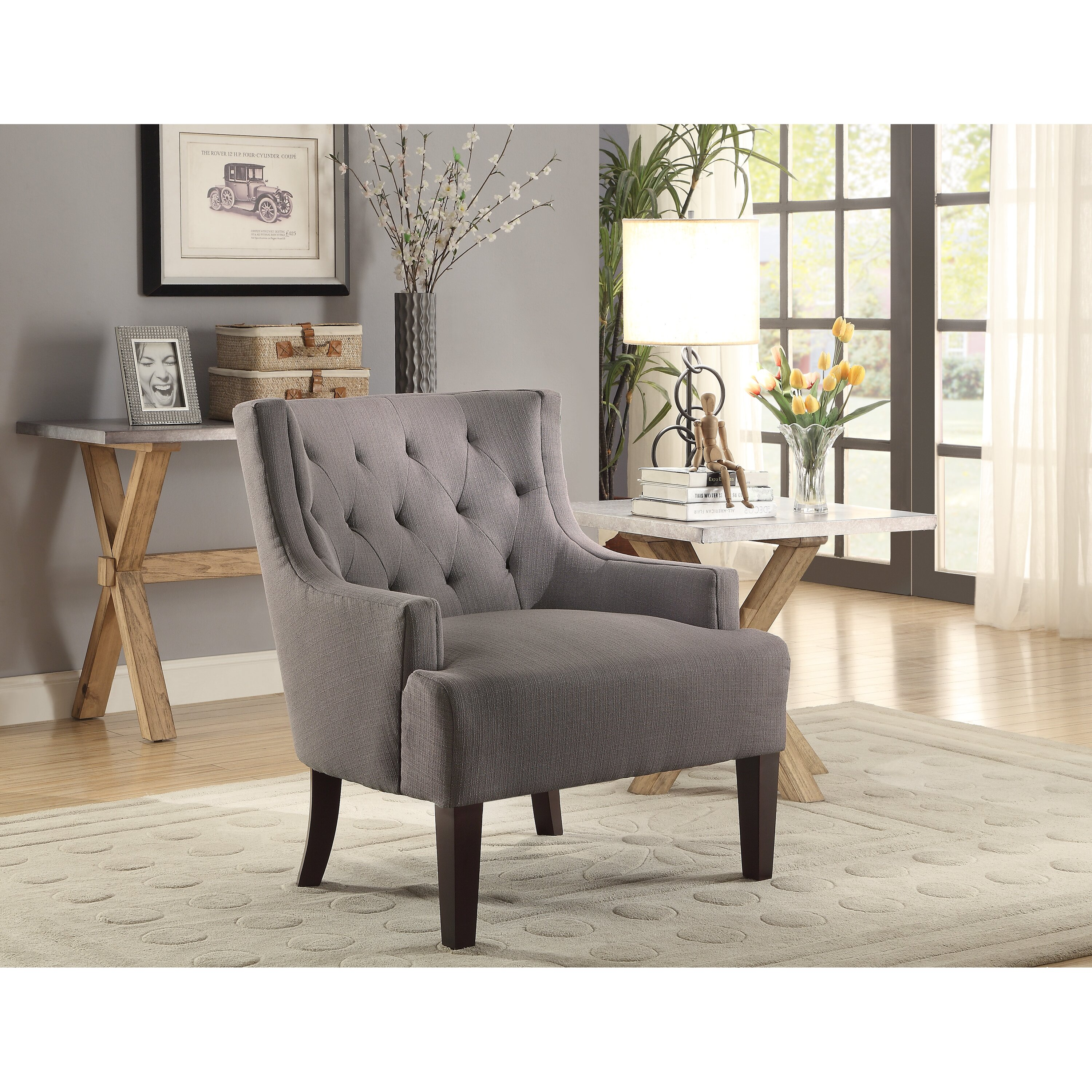 Tufted Living Room Chair Tufted Accent Chairs Youll Love Wayfair