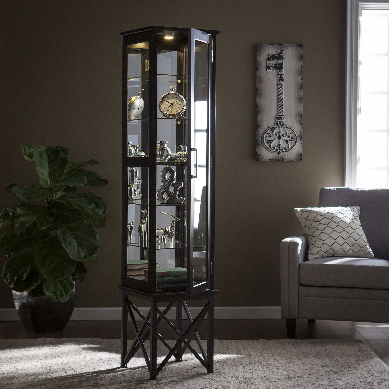 Curio Cabinet Lights Alcott Hill Clarkshire Lighted Curio Cabinet Reviews Wayfair