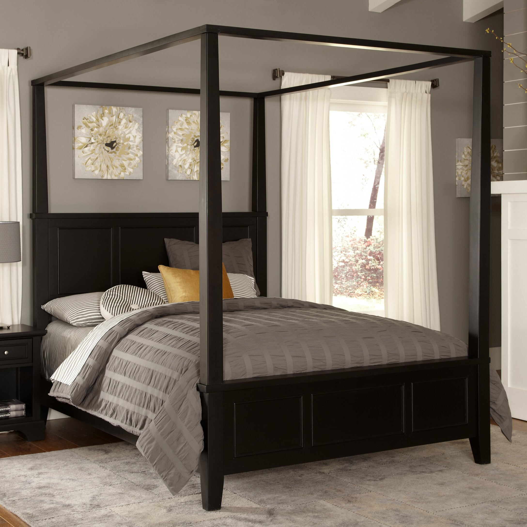 alcott hill marblewood canopy bed
