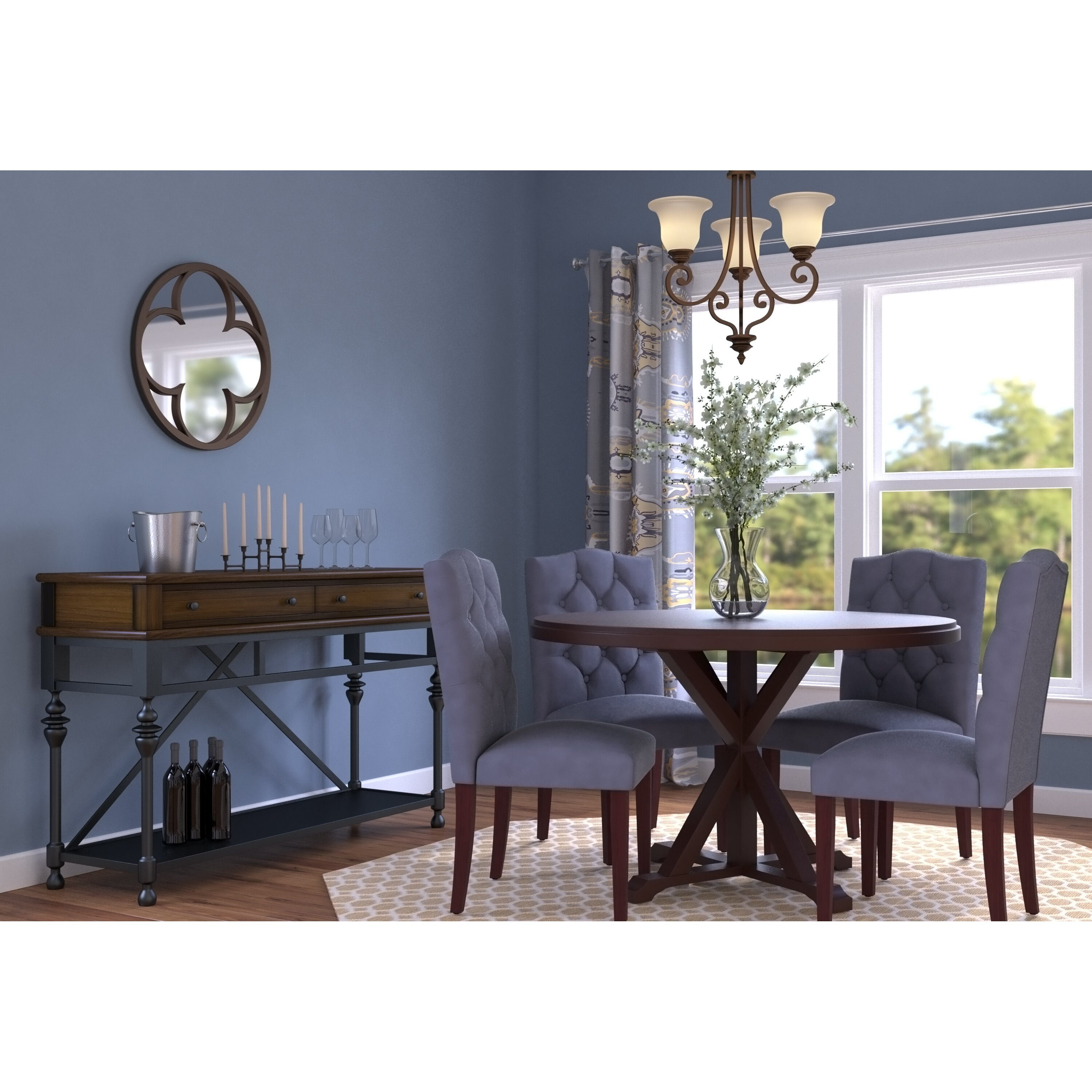 Round Table Federal Way Alcott Hill Fanning X Base Dining Table Reviews Wayfair