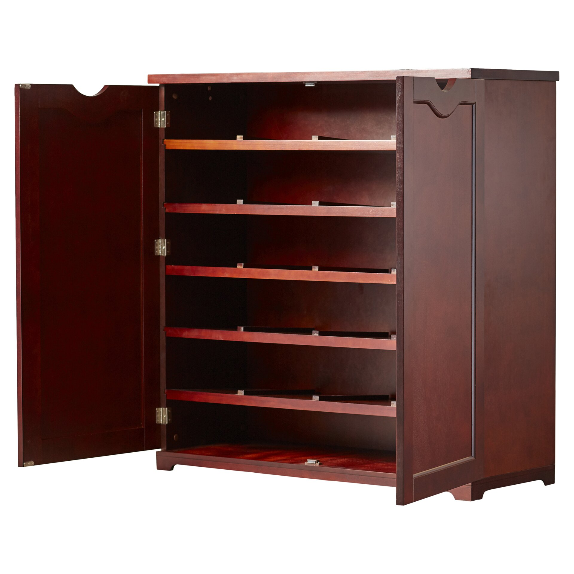 Home Depot Cabinets Review: Charlton Home Barre 38-Pair Shoe Storage Cabinet & Reviews
