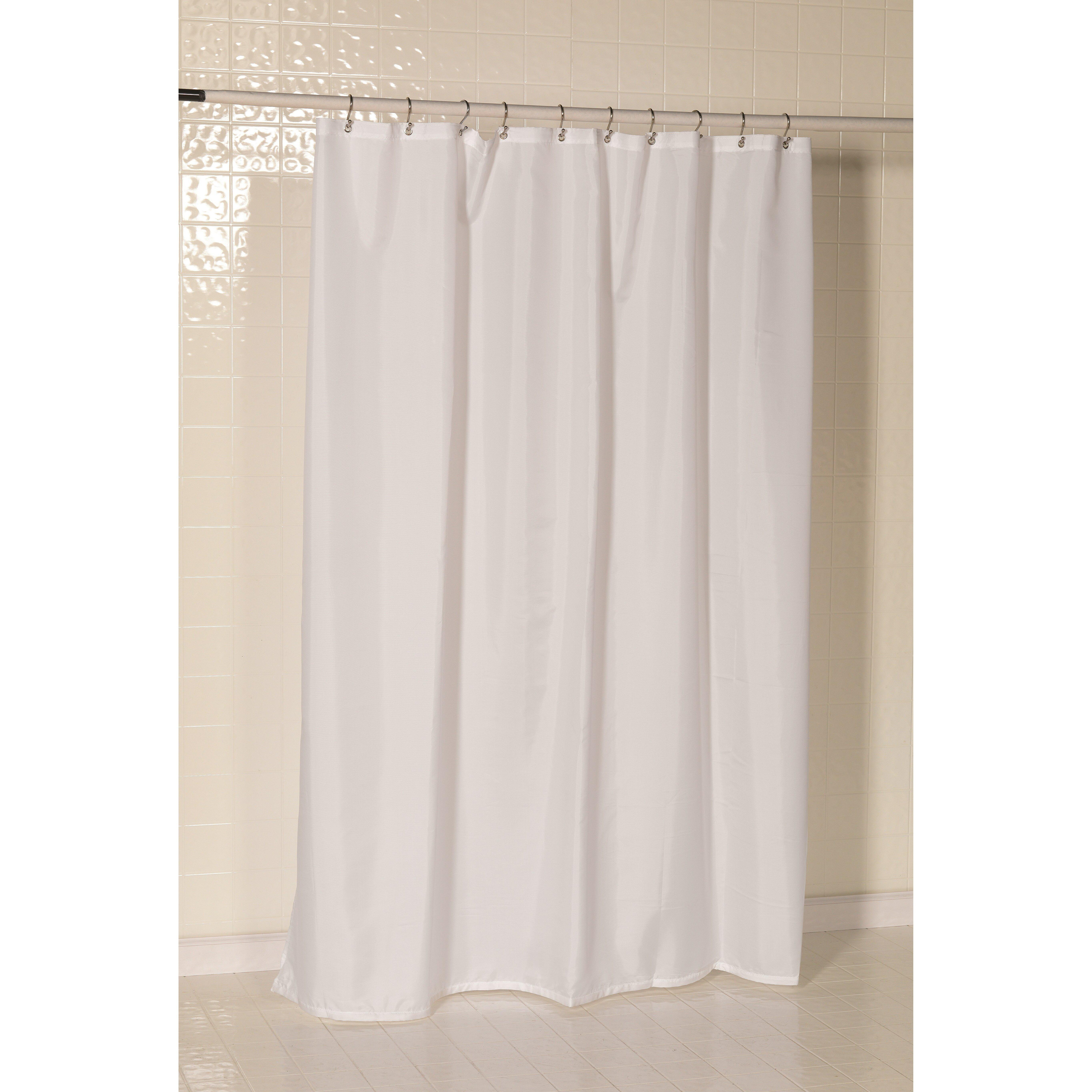 Charlton Home Tamesbury Nylon Shower Curtain Liner  Reviews Wayfair - Shower curtain
