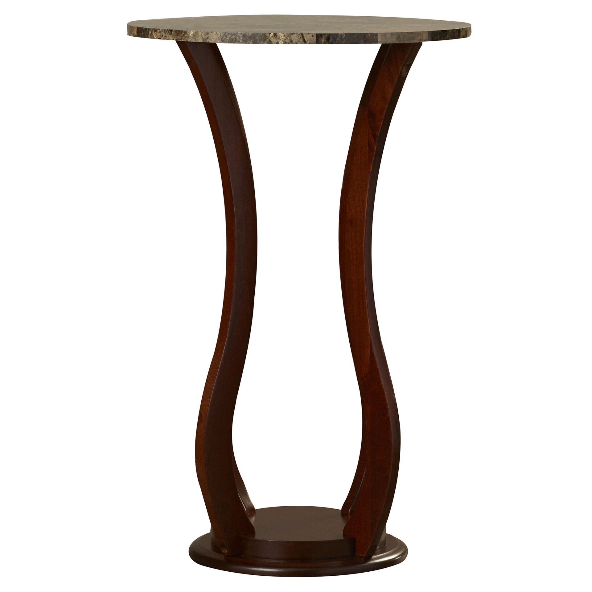 Pedestal Plant Stands Indoor #17: Ou0026#39;Neil Faux Marble Top Pedestal Plant Stand In Cherry