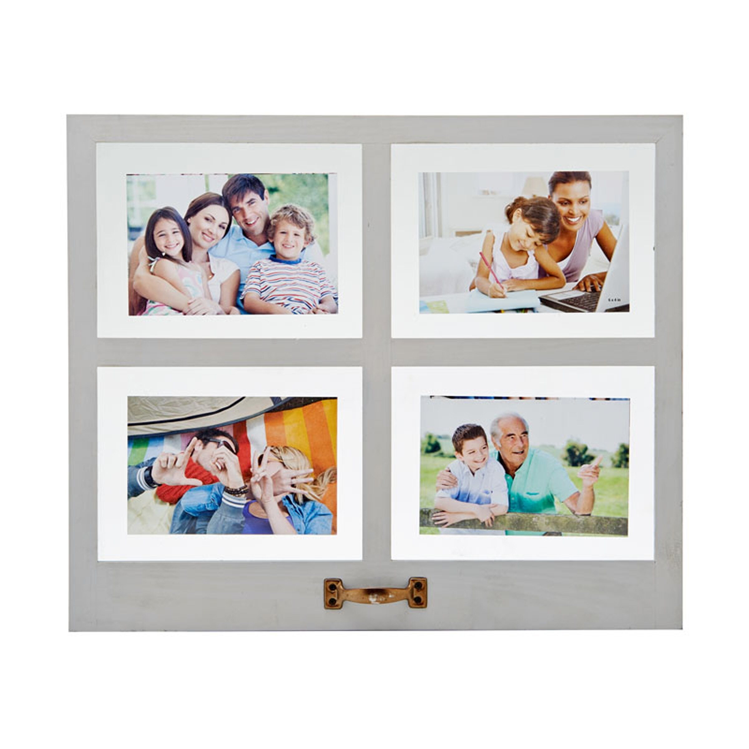 charlton home 4 opening distressed floating collage frame