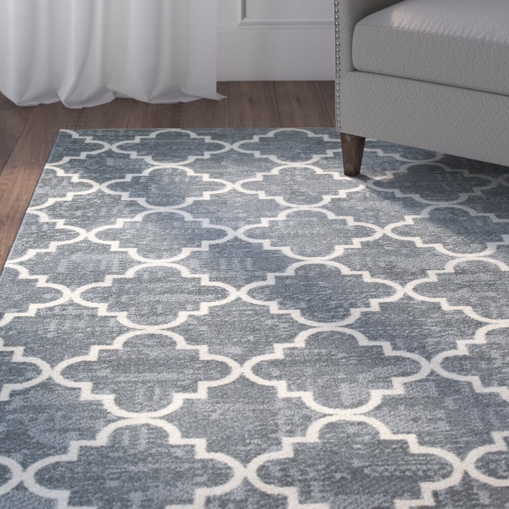 Charlton Home Orwin Fancy Trellis Gray/White Area Rug U0026 Reviews .