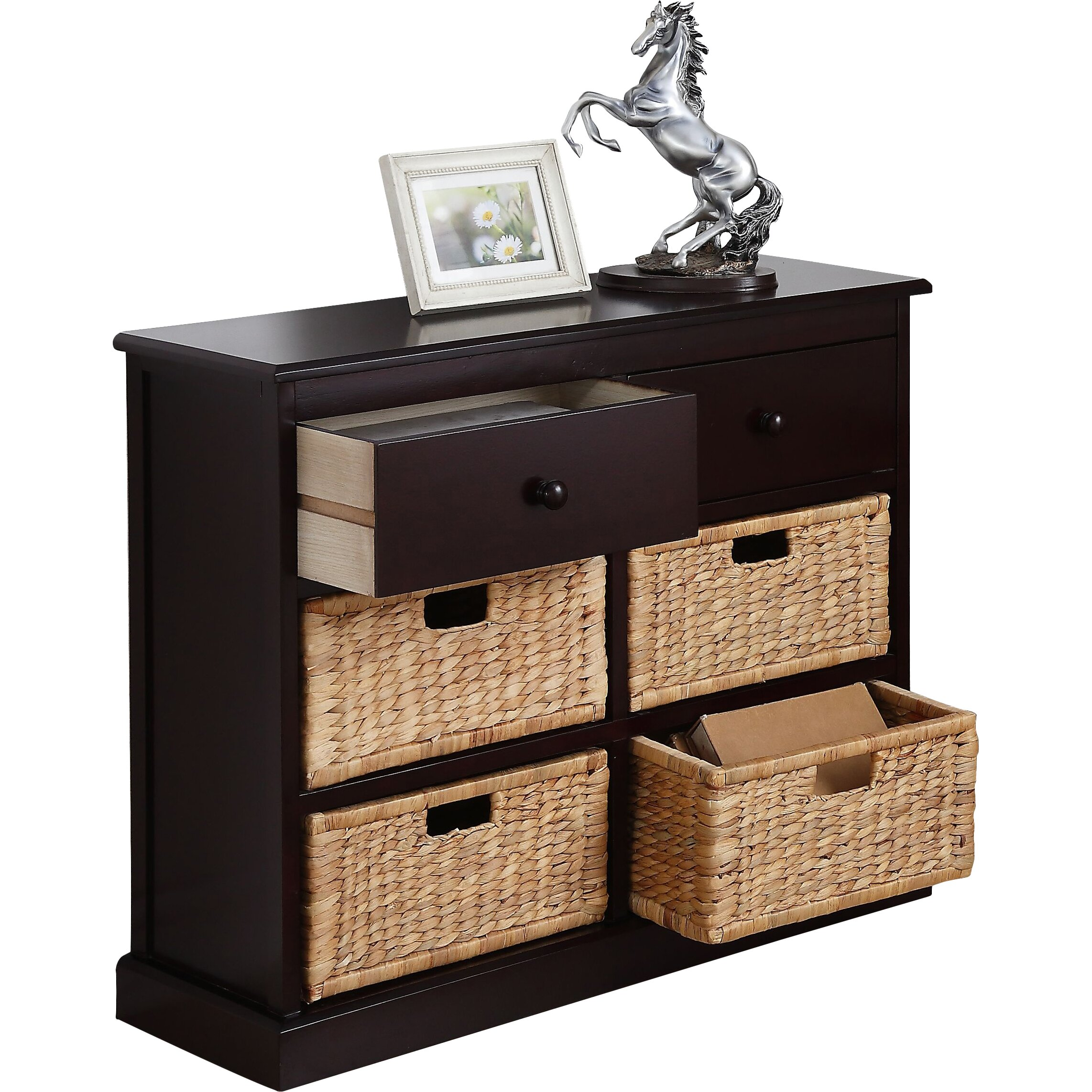 Charlton home carter 2 drawer 4 basket storage chest for Storage charlton
