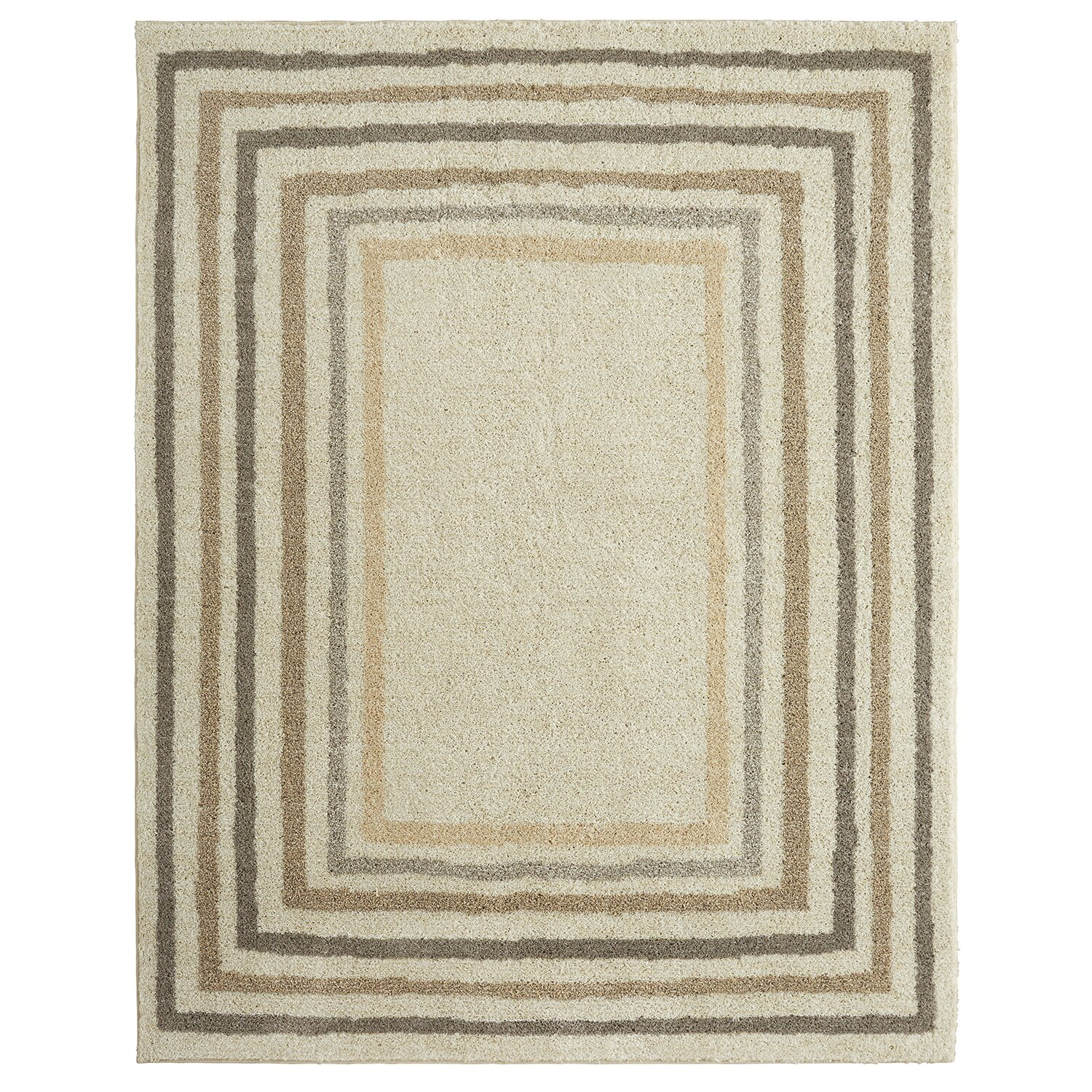 Charlton Home Bourne Sketched Border Beige Area Rug   Bder Beige