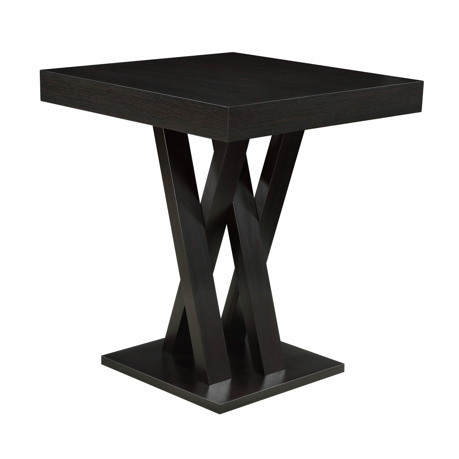 Square Pedestal Kitchen Table Modern Square Dining Kitchen Tables Allmodern