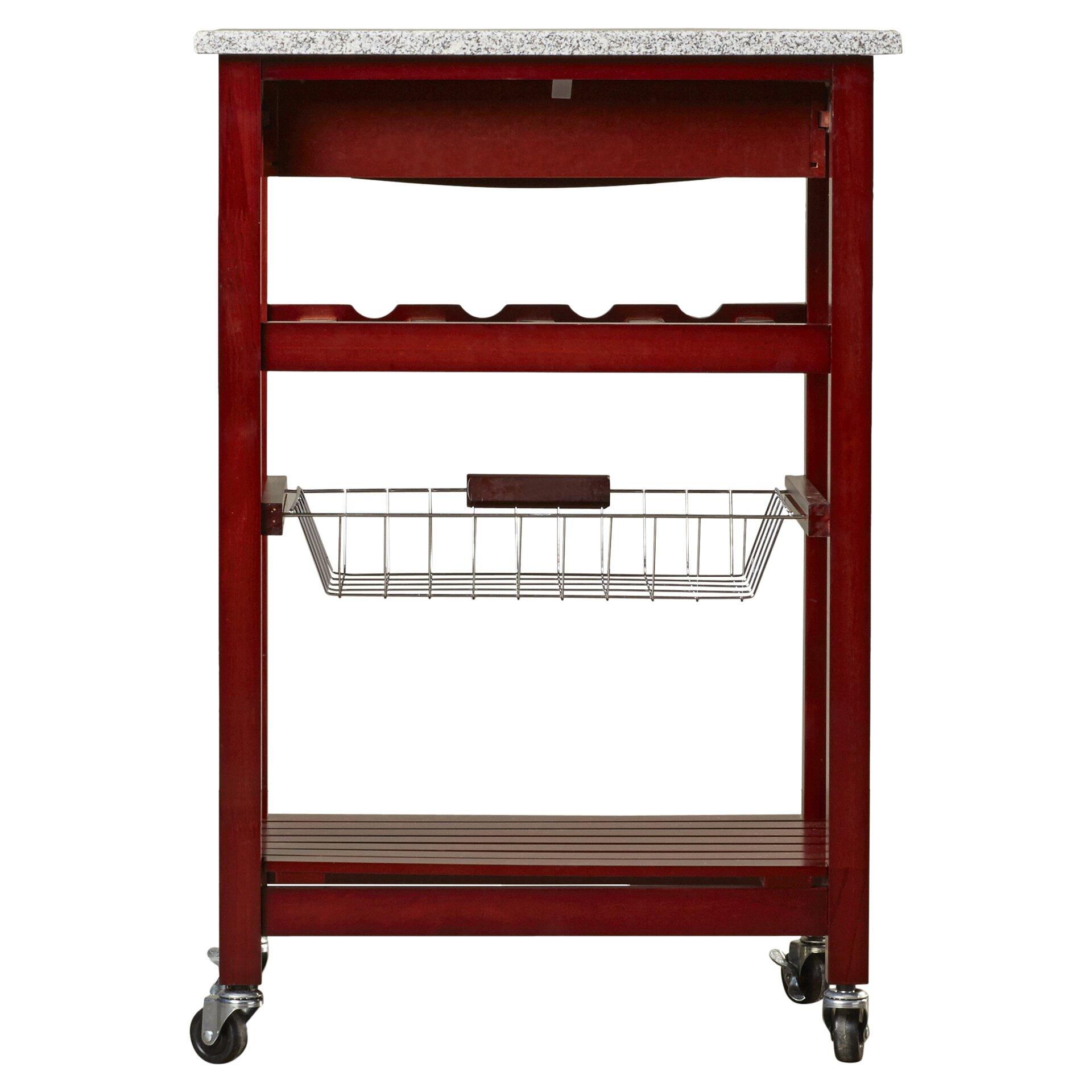 Kitchen Carts With Granite Top Varick Gallery Flint Kitchen Cart With Granite Top Reviews Wayfair