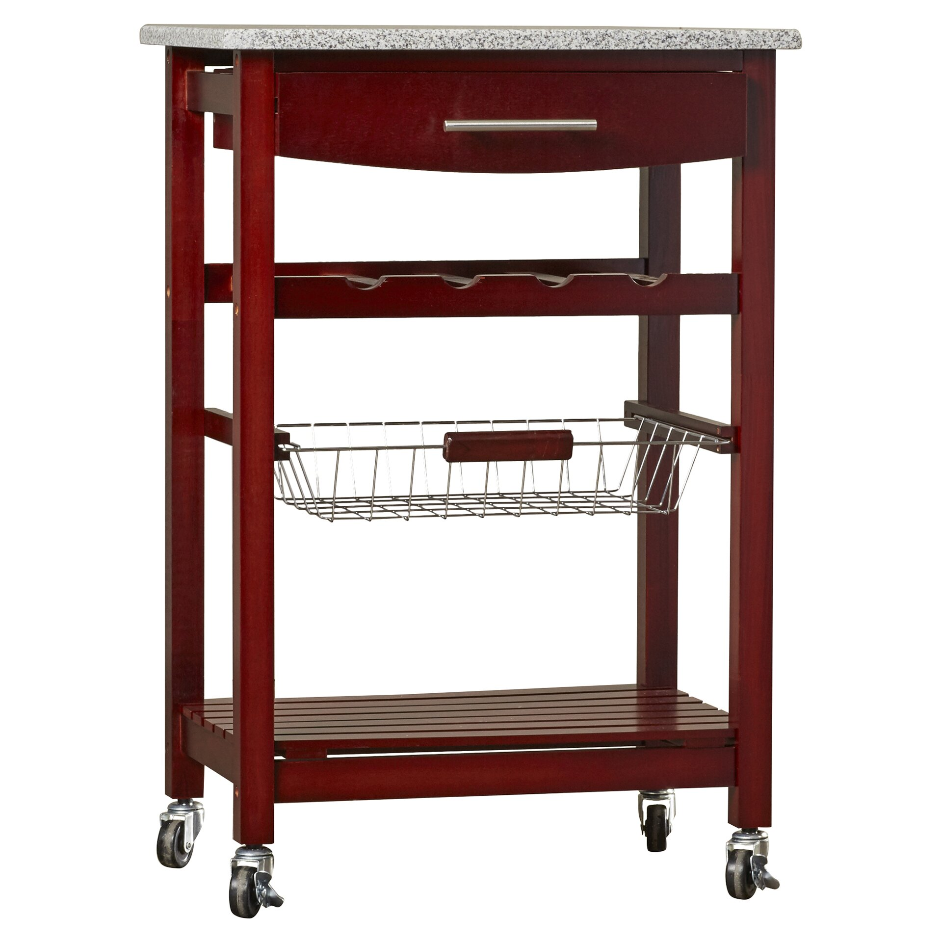 Granite Top Kitchen Cart Varick Gallery Flint Kitchen Cart With Granite Top Reviews Wayfair