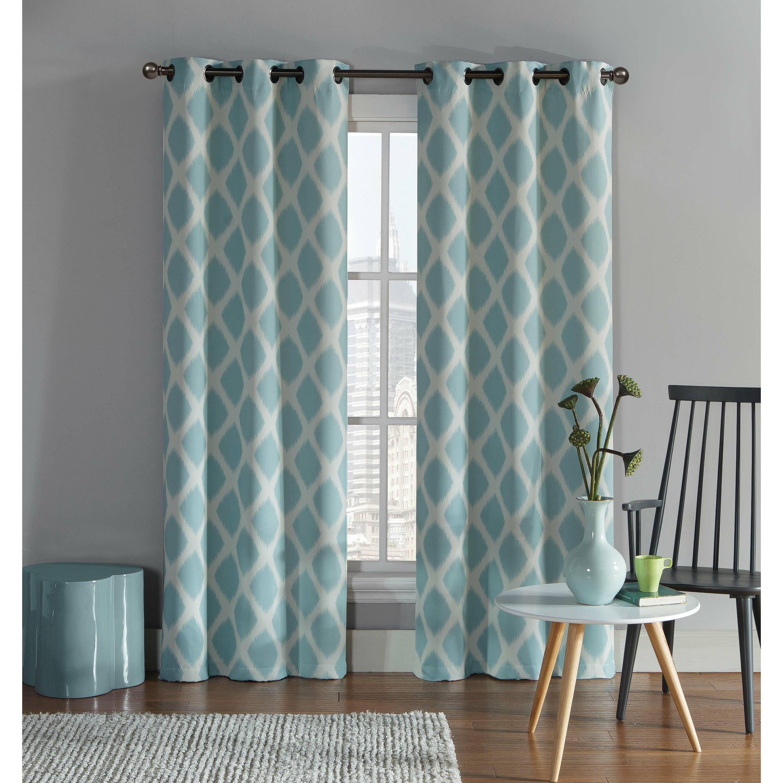 Ikat curtain panels - Varick Gallery Reg Ayla Ikat Blackout Grommet Curtain Panel