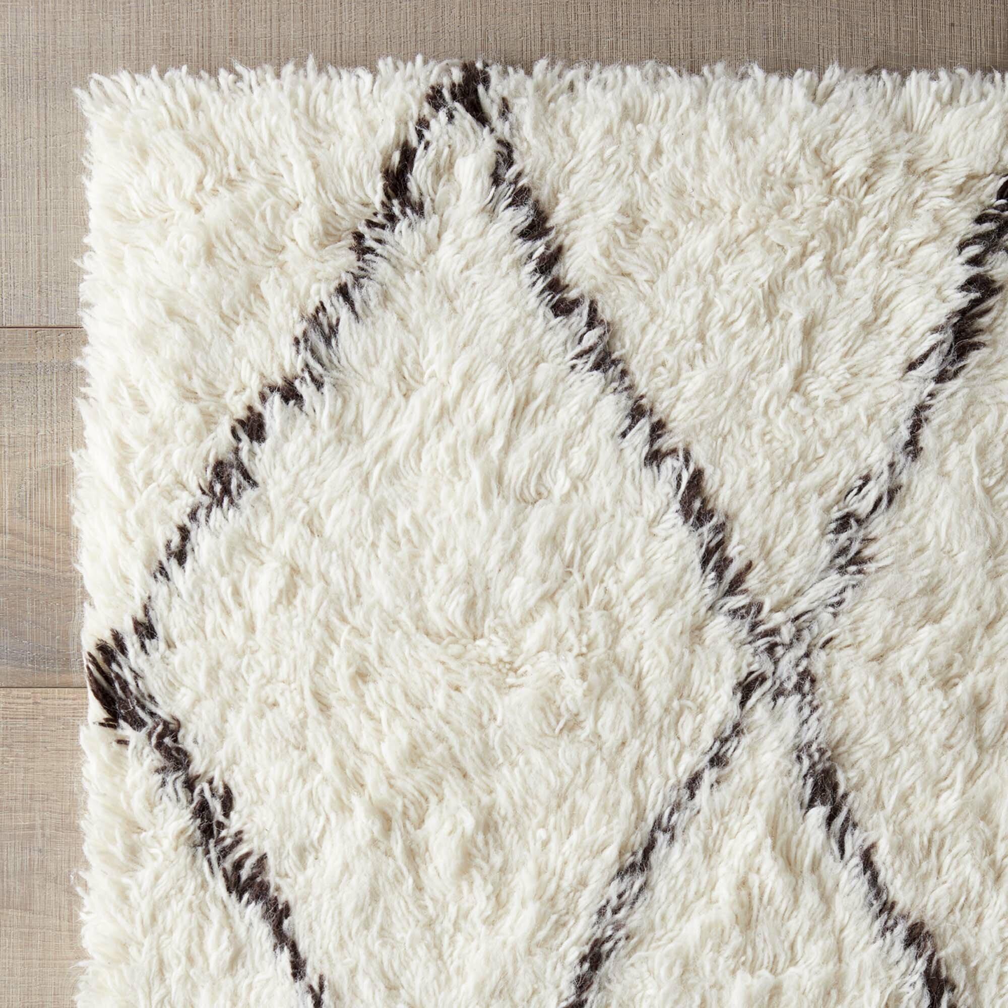 Varick Gallery Simonds Off-White/Brown Shag Area Rug