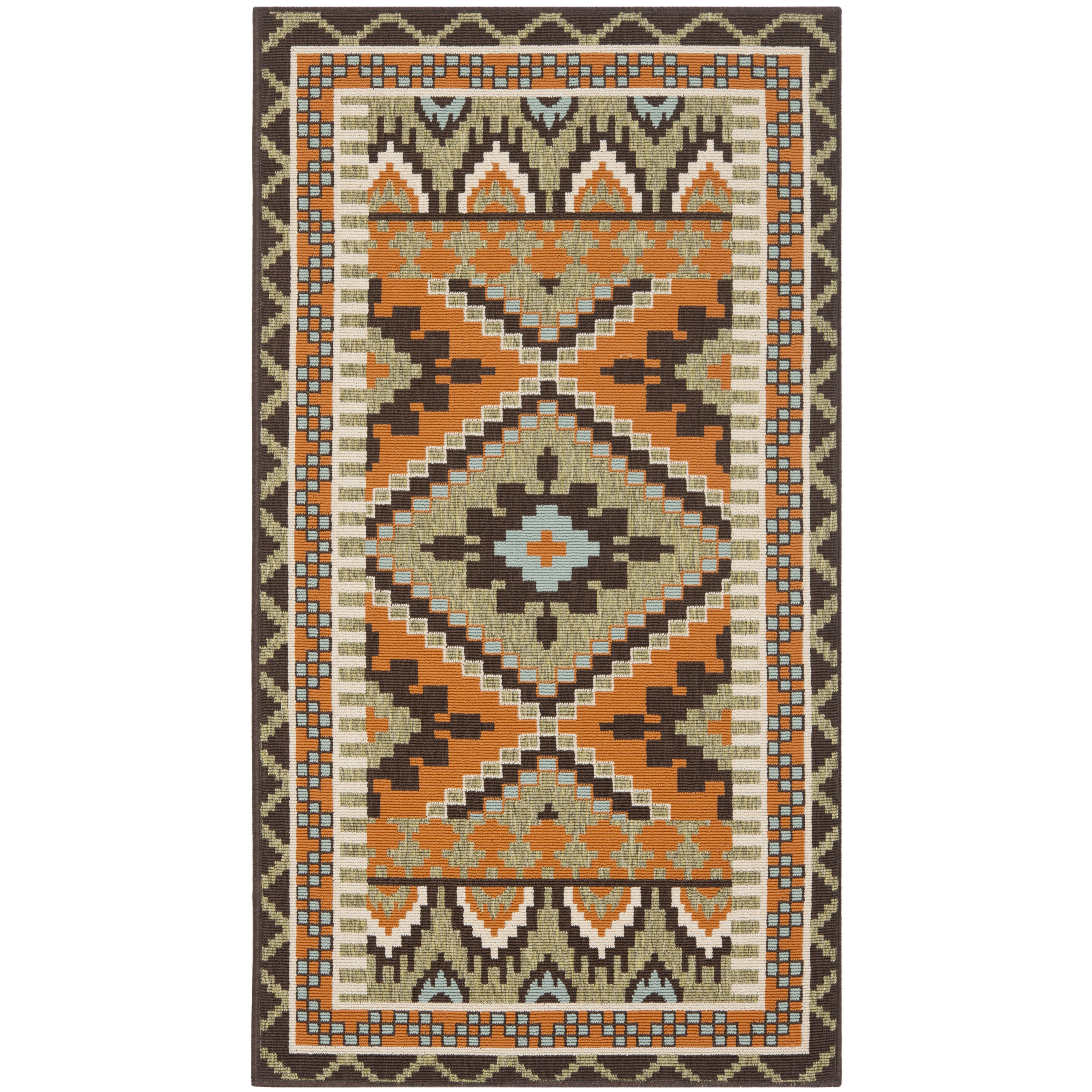 Brayden Studio Sierra Green Terracotta Area Rug Amp Reviews