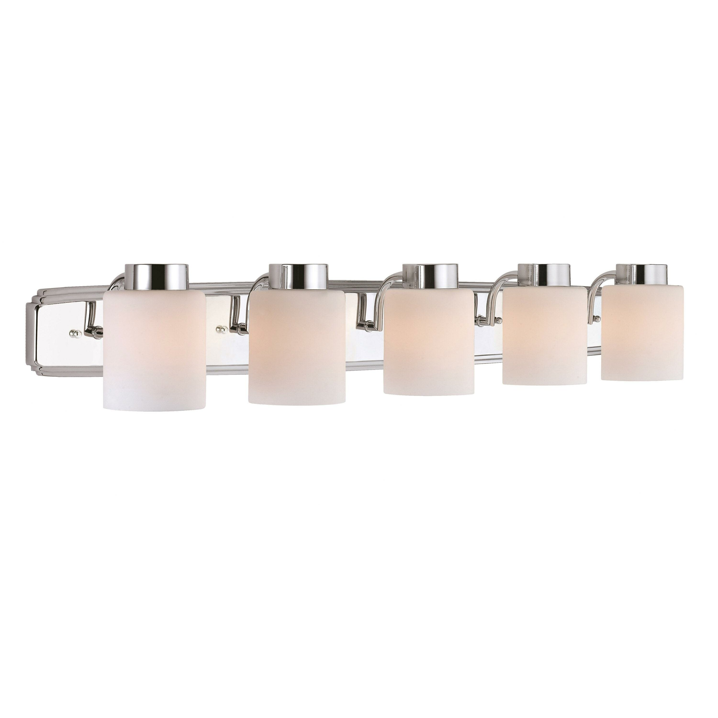 Bathroom vanity lights brushed nickel - Eddins 5 Light Vanity Light