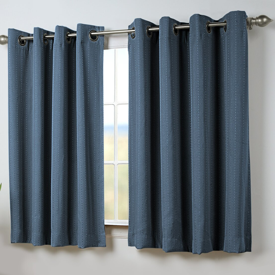 brayden studio louie short room darkening thermal single curtain panel