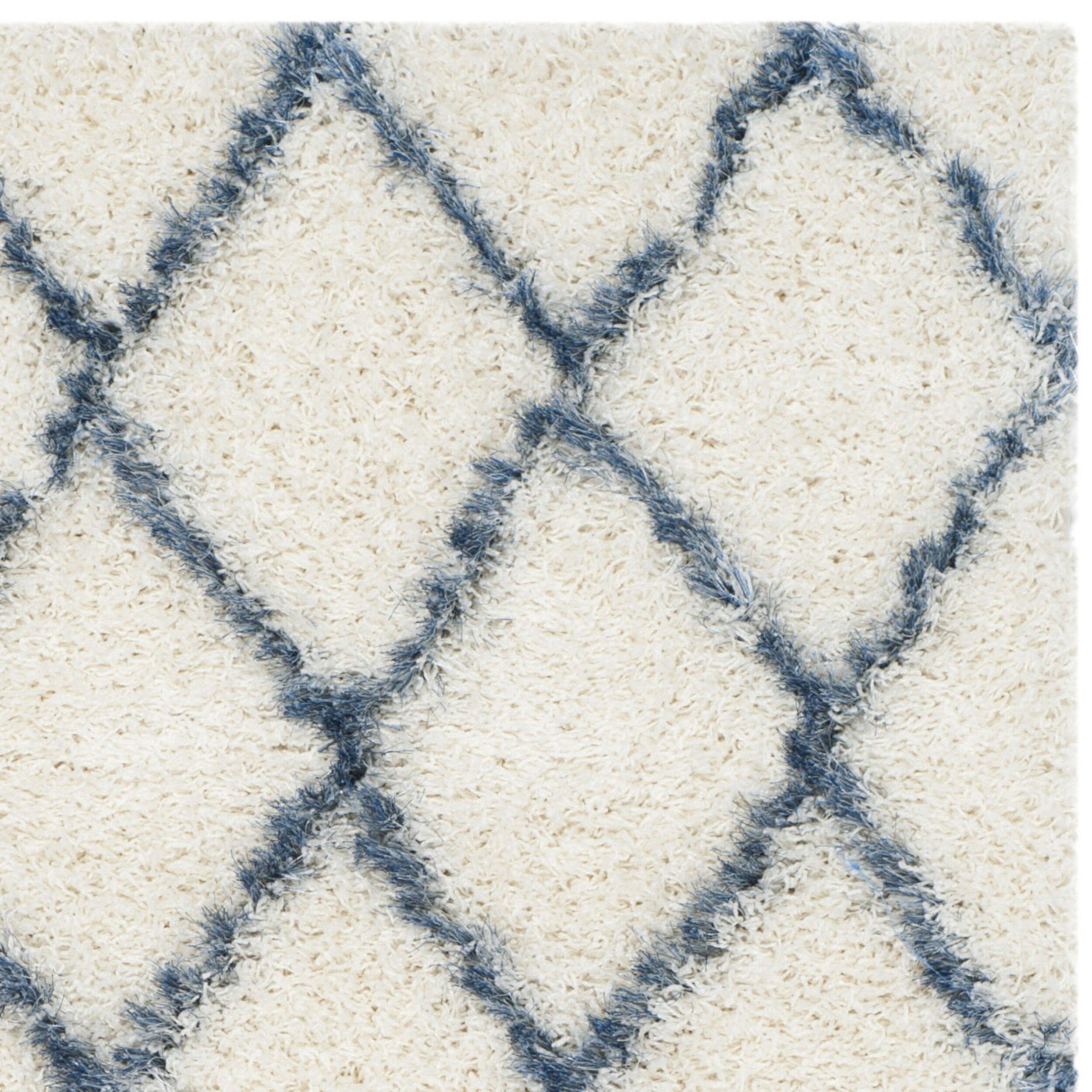 ^ Brayden Studio rmstead Ivory & Blue Geometric ontemporary rea ...