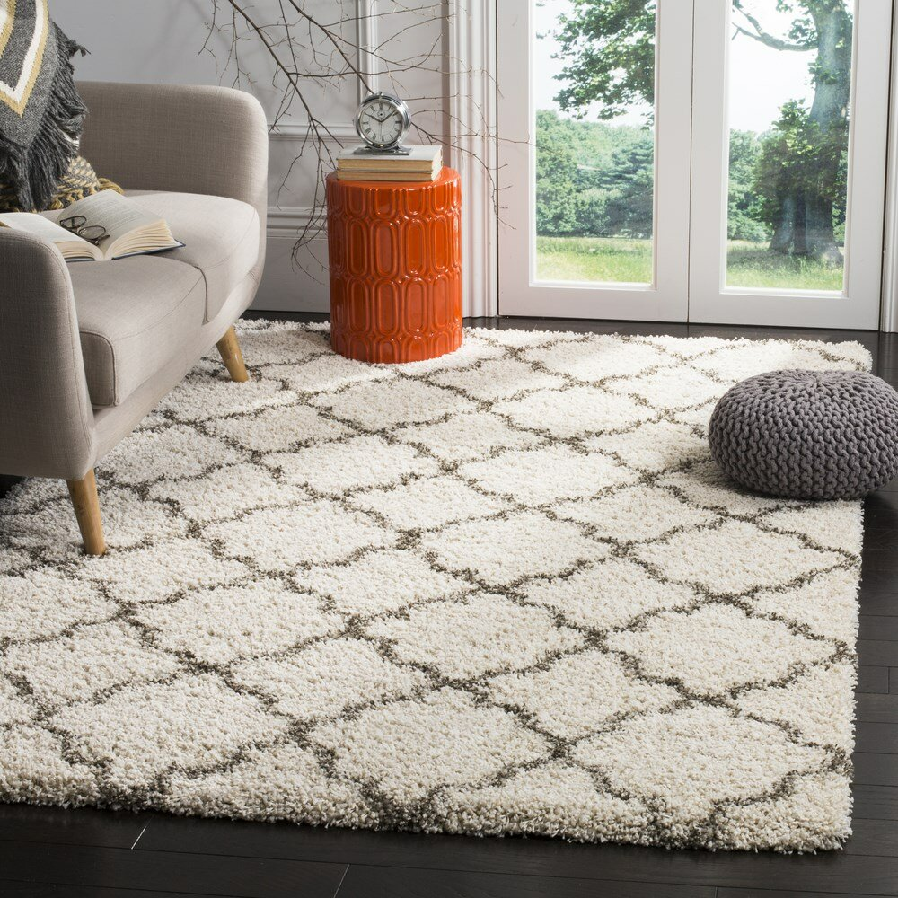 Grey Shag Area Rug Home Decor