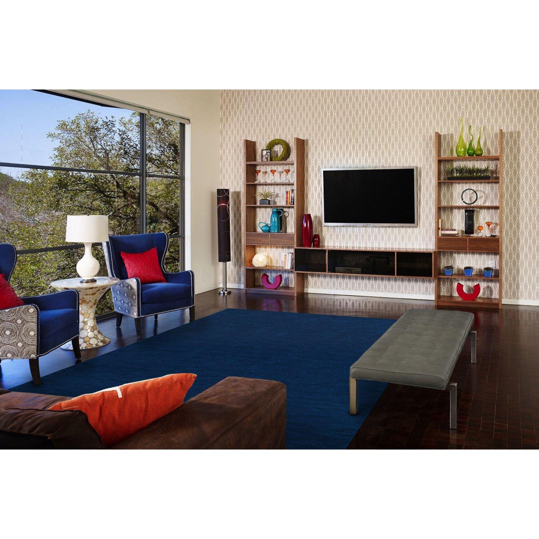 Brayden studio larissa hand woven dark blue area rug