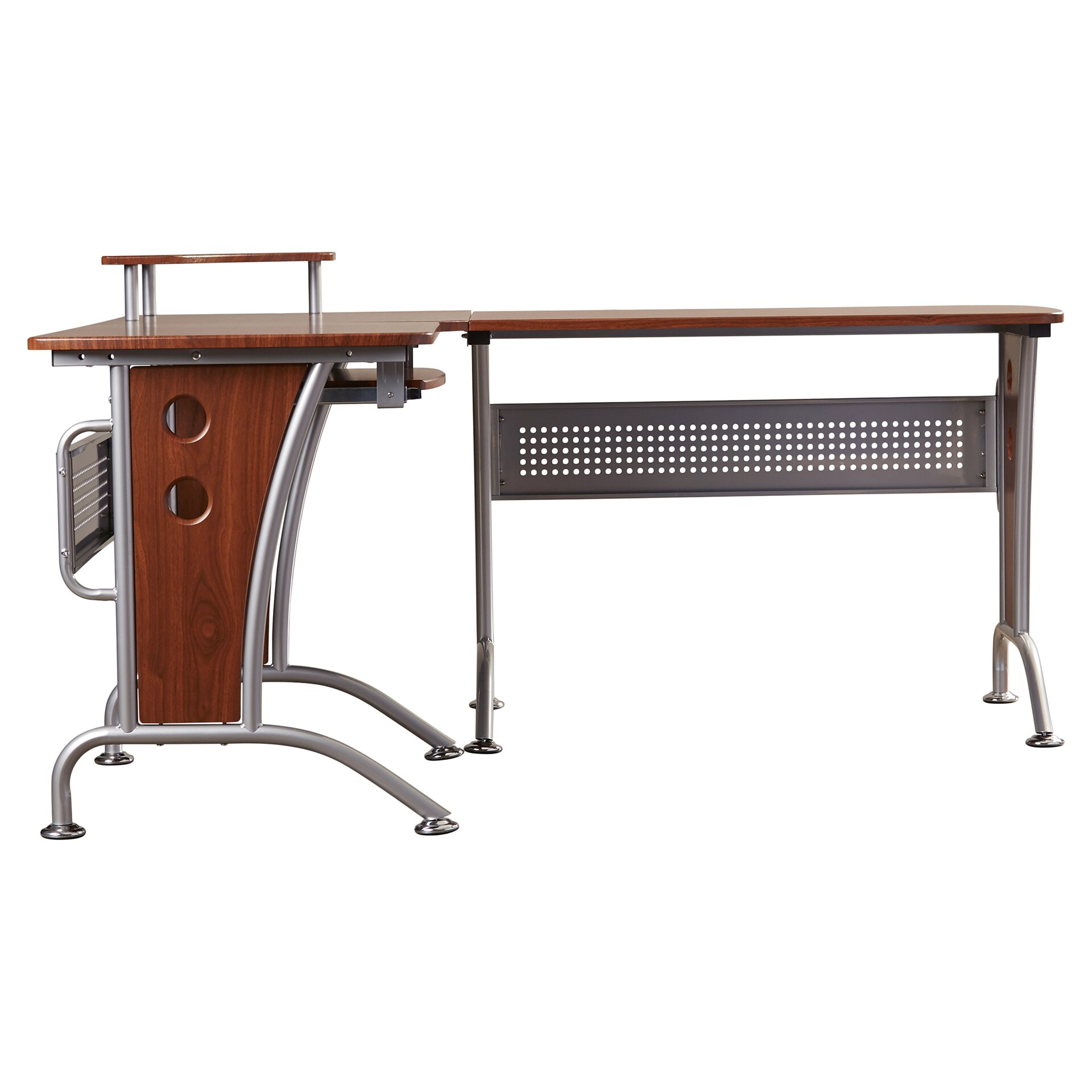 Wade Logan Eden Roc L Shape Writing Desk & Reviews Wayfair. Full resolution  snapshot, nominally Width 1920 Height 1920 pixels, snapshot with #6B3624.