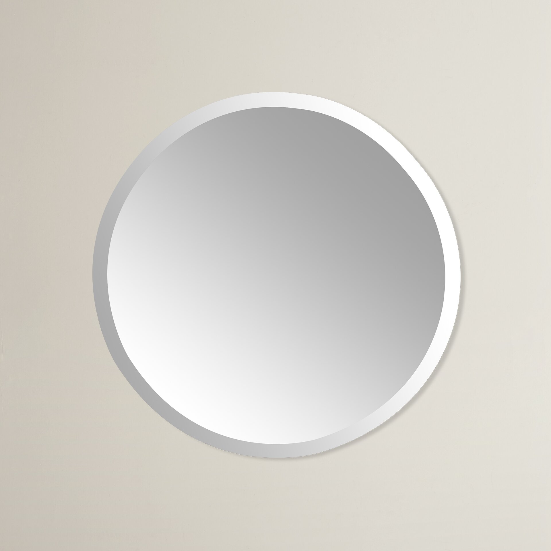 Frameless Bathroom Mirror Wade Logan Kayden Frameless Wall Mirror Reviews Wayfair