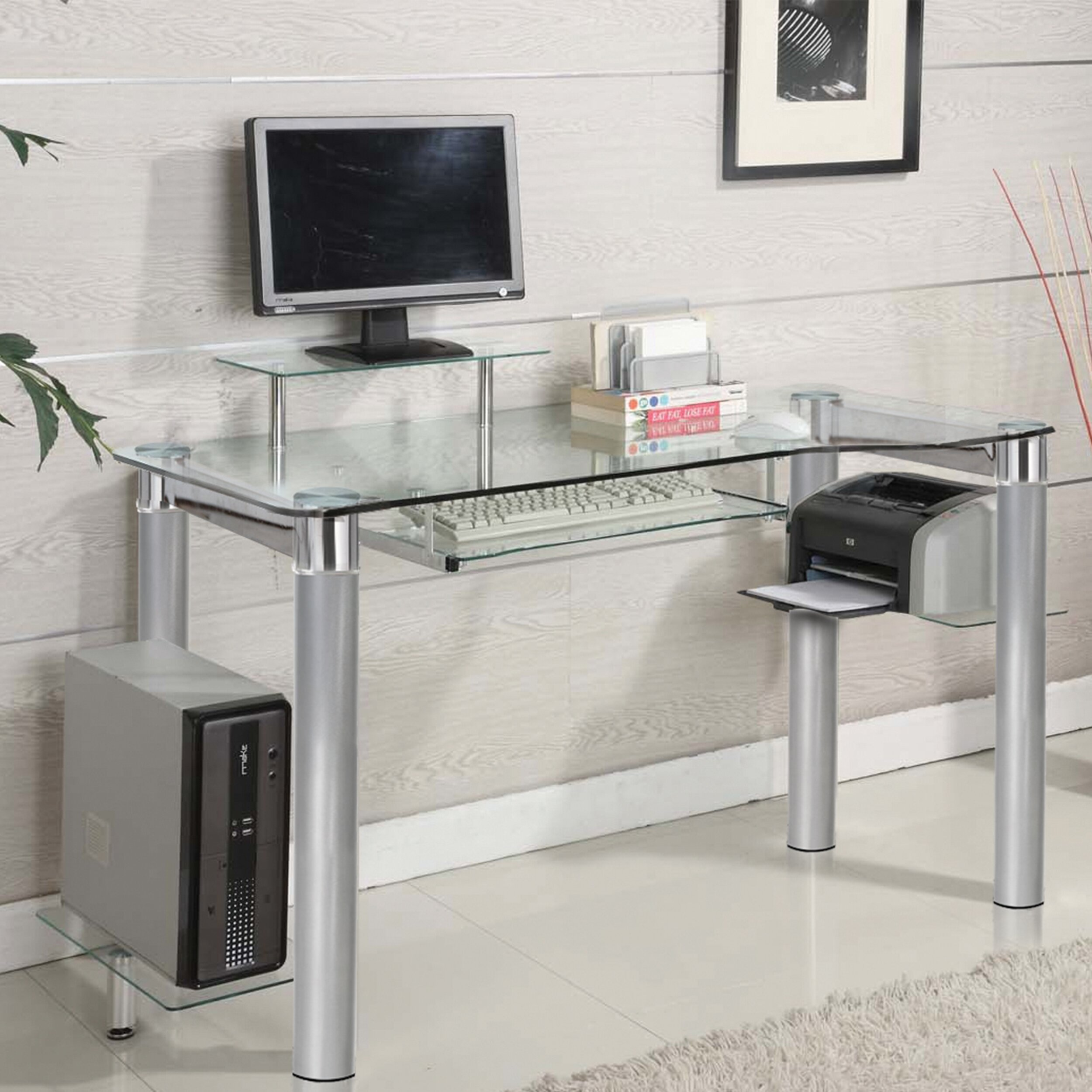 Design Acrylic Desks furniture home acrylic desk ikea wall leaning and bookcase computer hostgarcia