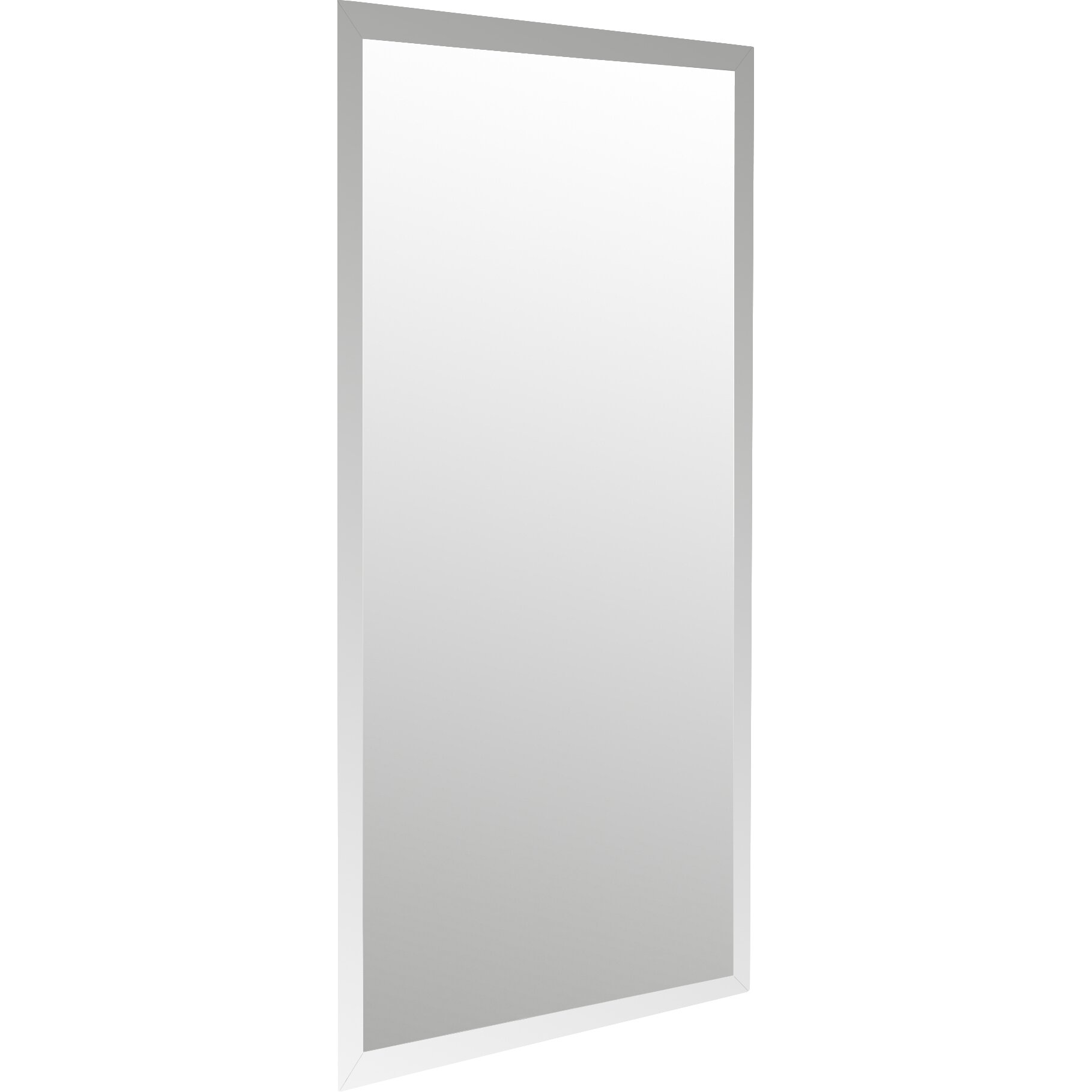Frameless Bathroom Mirror Wade Logan Frameless Wall Mirror Reviews Wayfair