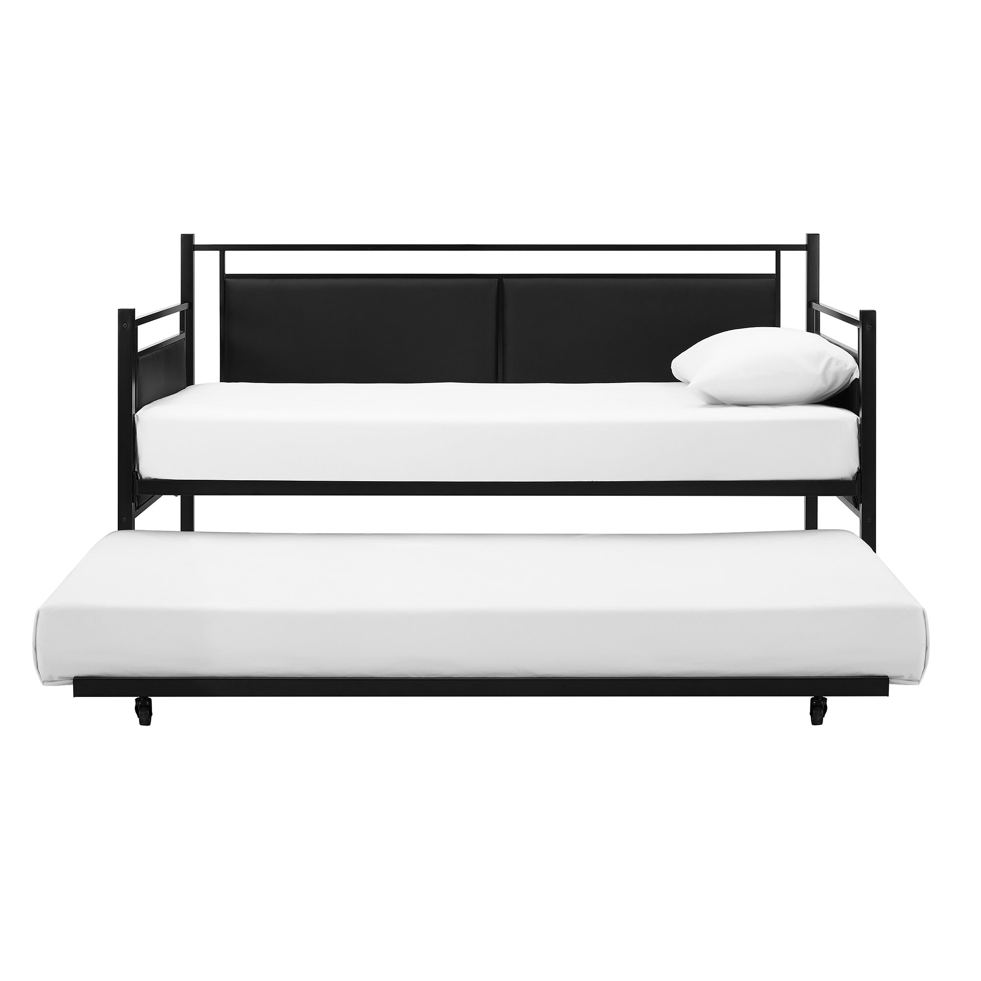 Wade Logan Petaluma Metal and Upholstered Daybed with Trundle & Reviews | Wayfair