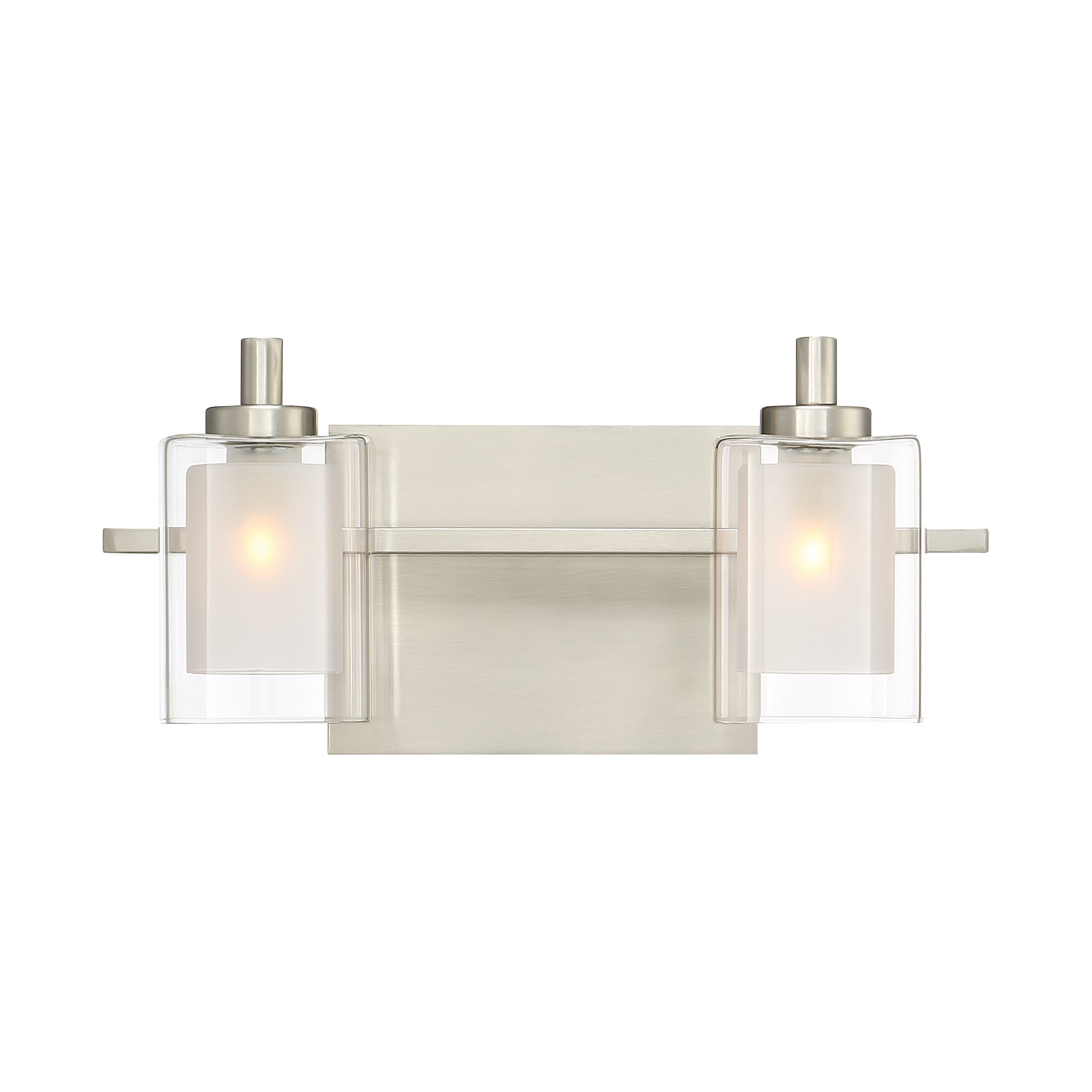 Bathroom vanity lights brushed nickel - Wade Logan Reg Aldrich 2 Light Vanity Light