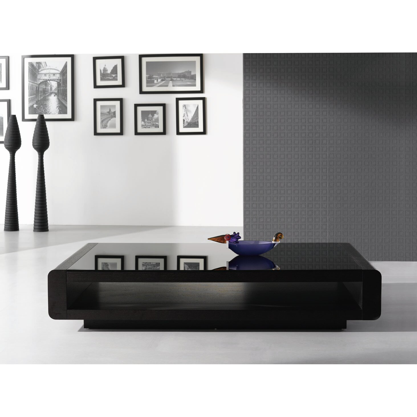 Black modern coffee table - Wade Logan Reg Delilah Modern Coffee Table