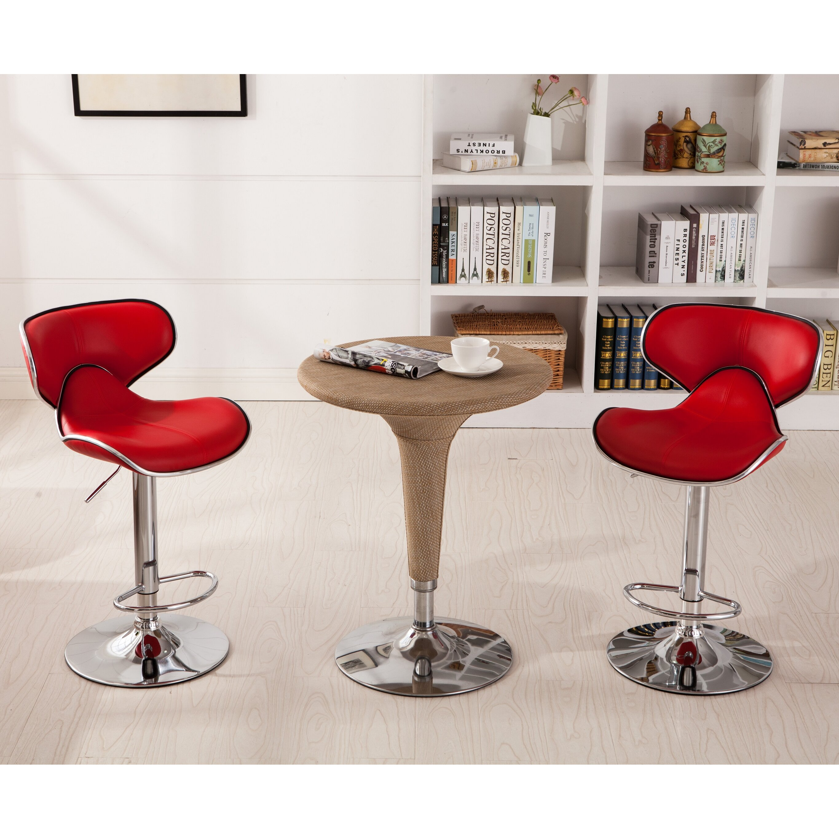 Wade Logan Harlow Adjustable Height Swivel Bar Stool