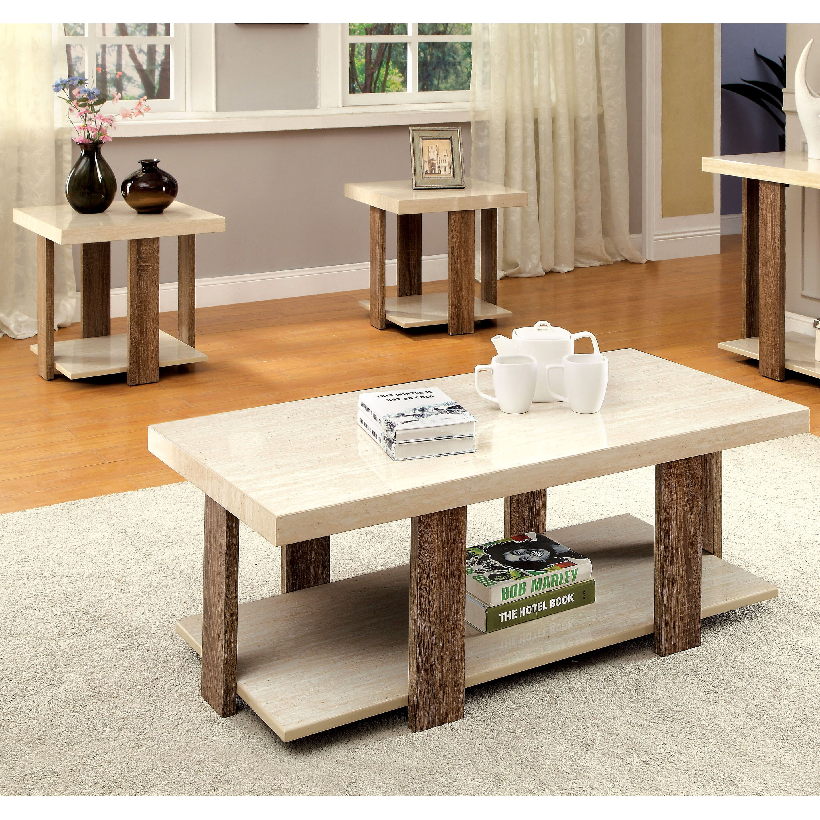 Three Piece Living Room Table Set Wade Logan Dunlevy 3 Piece Coffee Table Set Reviews Wayfair