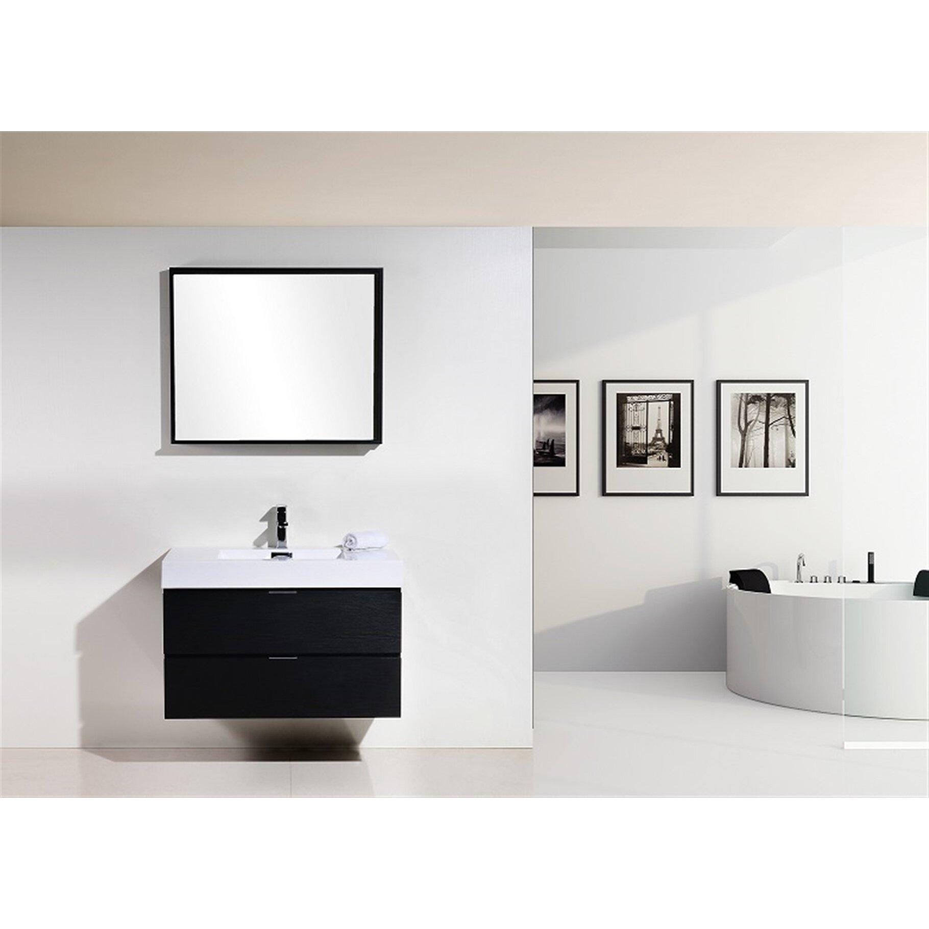 Modern Bathroom Vanity Wade Logan Tenafly 36 Single Wall Mount Modern Bathroom Vanity