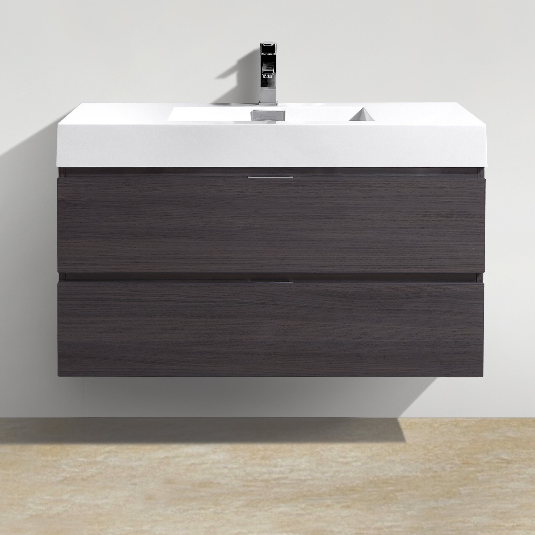 Designer Bathroom Accessories Sets Wade Logan Tenafly 40 Single Wall Mount Modern Bathroom Vanity