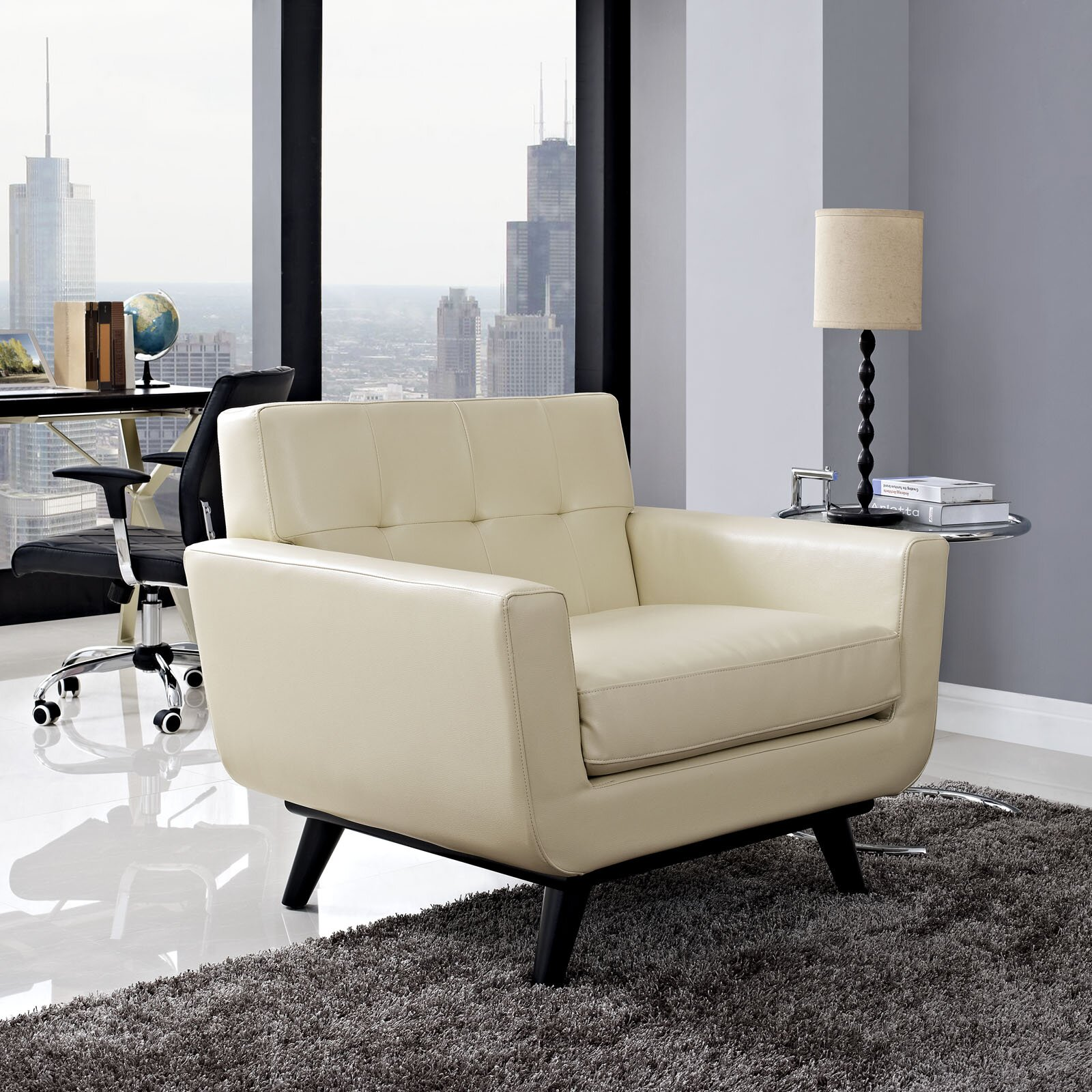 Living Room Arm Chairs Corrigan Studio Saginaw Leather Arm Chair Reviews Wayfair
