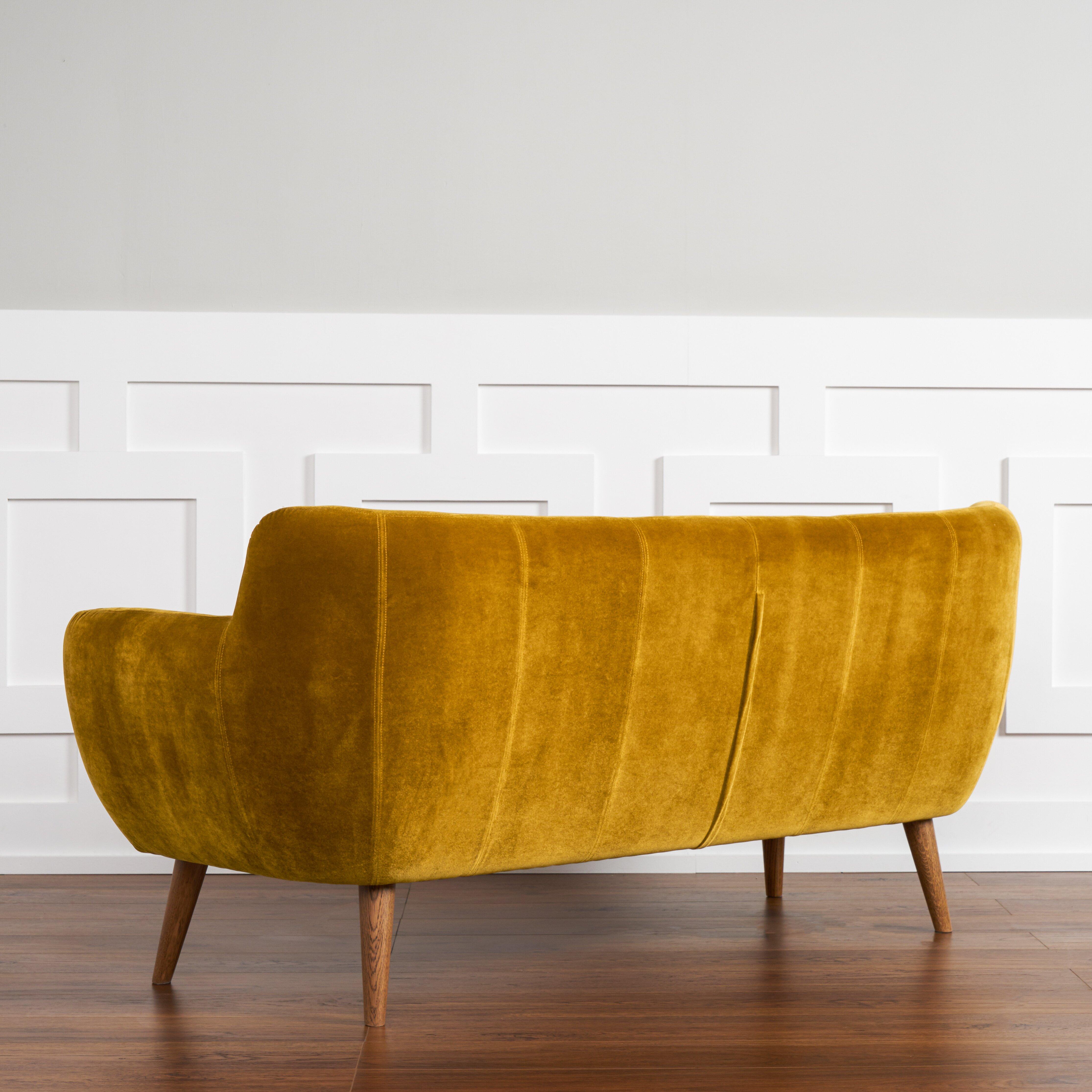 corrigan studio april tufted sofa wayfair brown tufted sofa