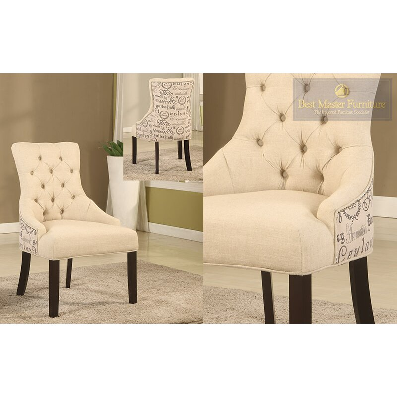 natural fabric side chair - Side Chairs For Living Room