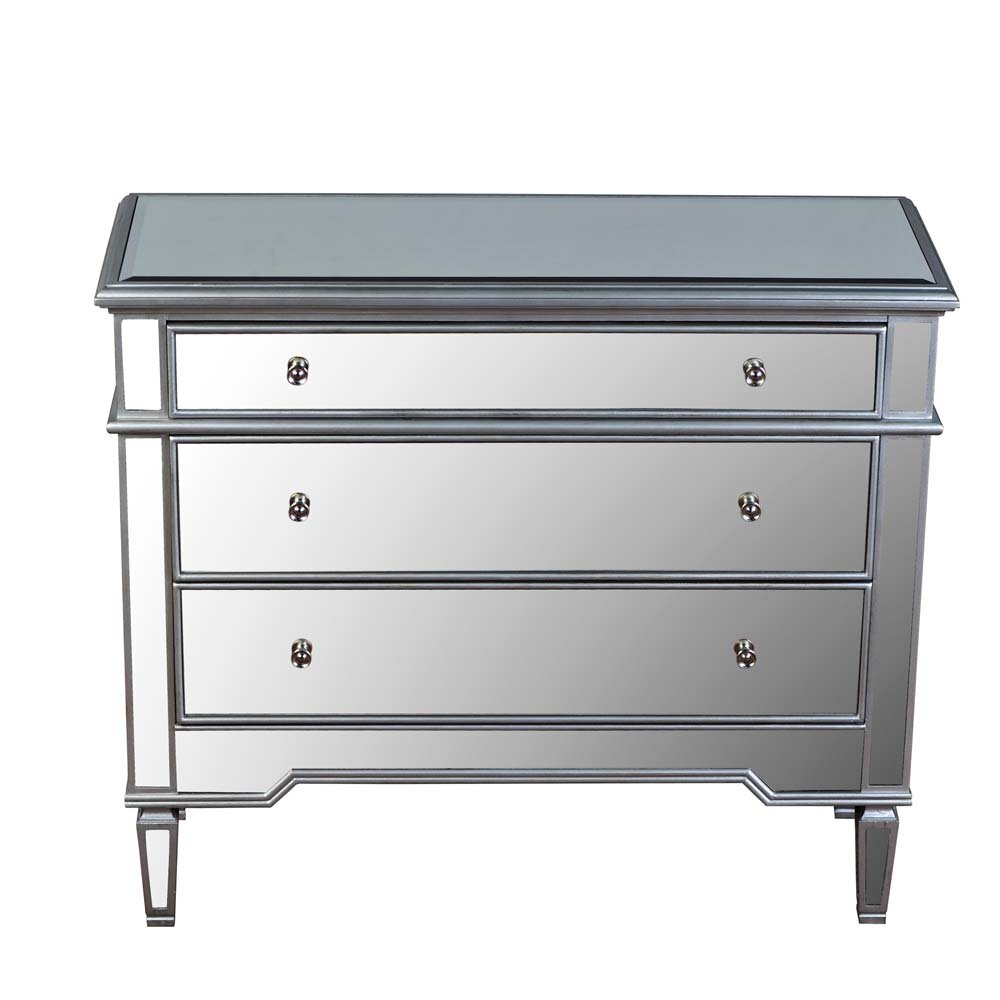 Mirrored Cabinet: BestMasterFurniture 3 Drawer Mirrored Chest & Reviews