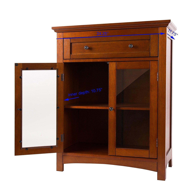 Storage Cabinet Wood Glitzhome Wooden Shelved Floor Storage Cabinet Wayfair