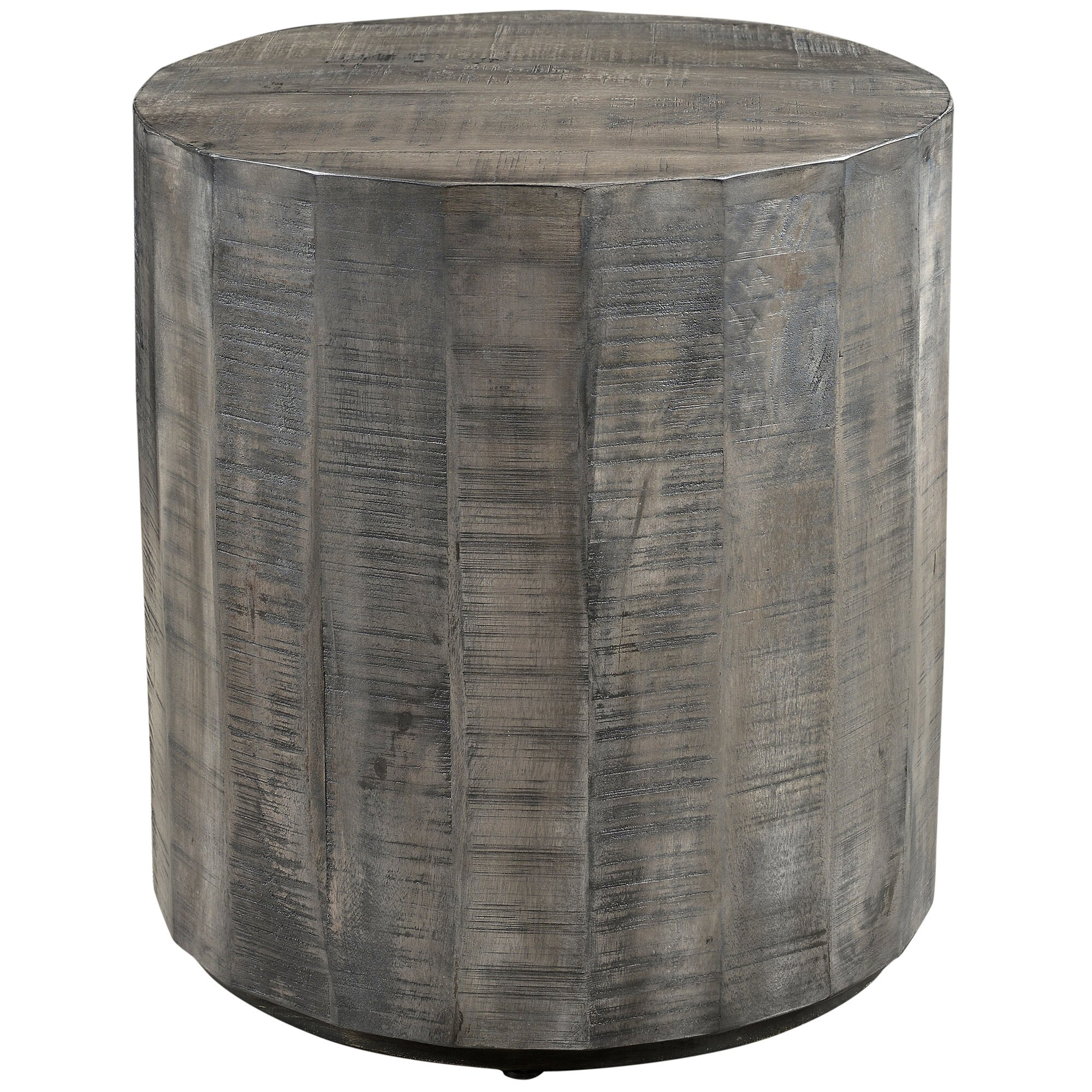 Mango Wood Coffee Table Distressed Gray: !nspire End Table