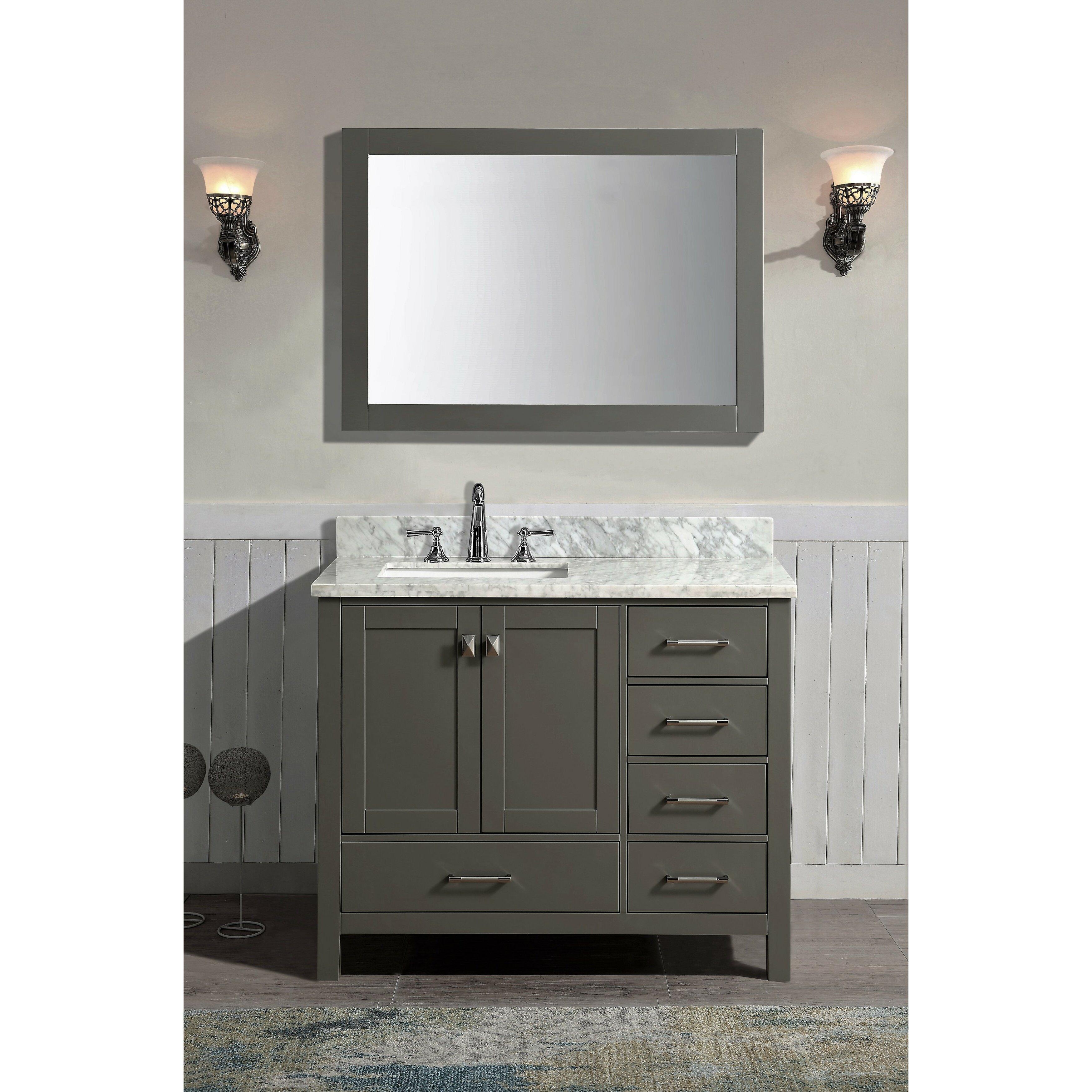 Ari Kitchen amp amp Bath Bella 42 amp quot Single Bathroom Vanity  Ari  Kitchen amp. Bathroom Countertop Decor
