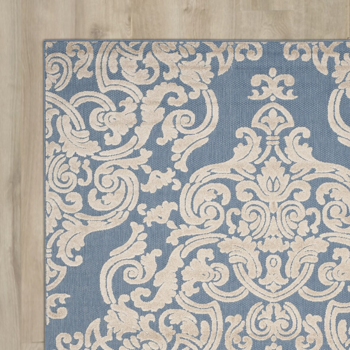 Dog Themed Outdoor Rugs: Lark Manor Lievin Blue Indoor/Outdoor Area Rug & Reviews