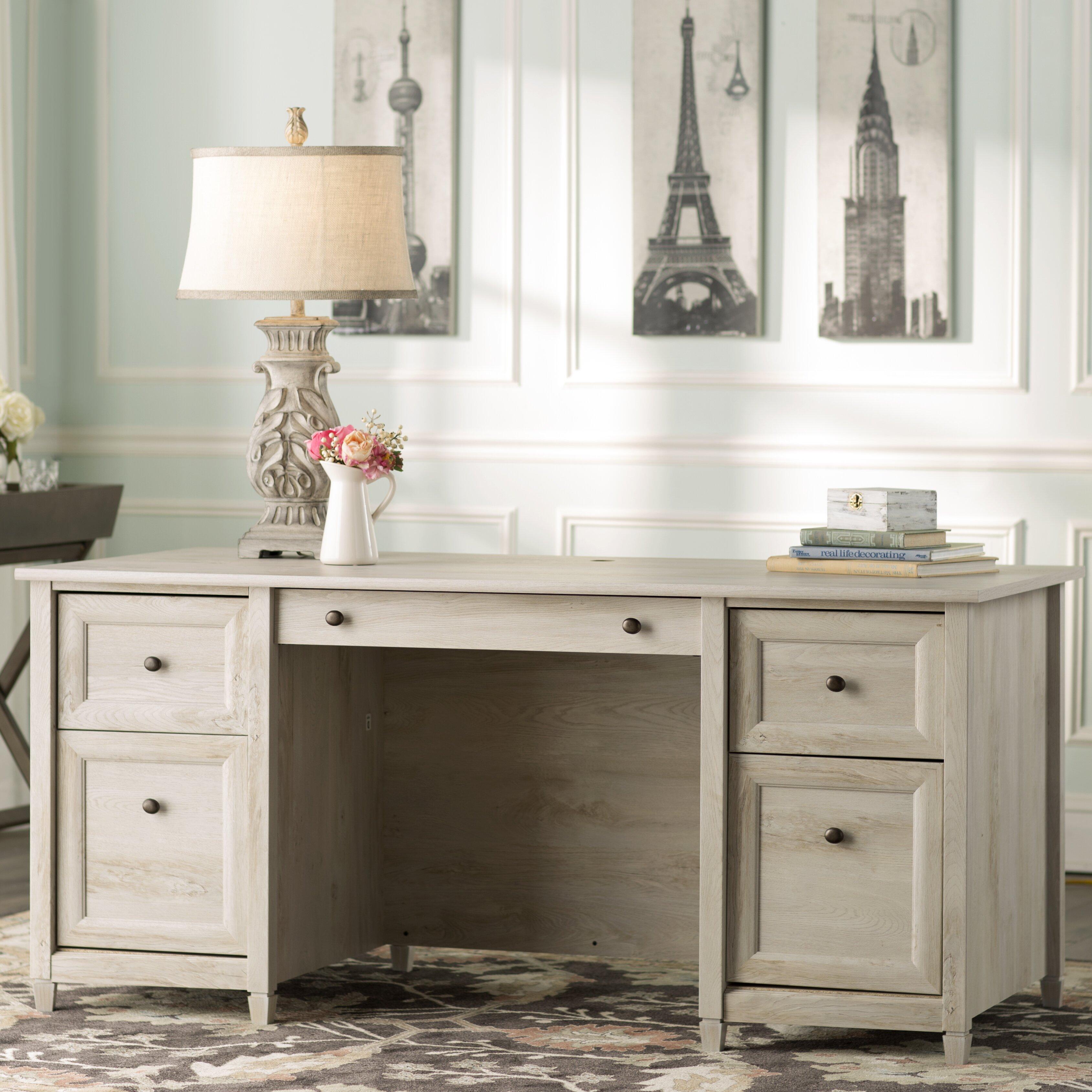 Lark Manor Datur Executive Desk Amp Reviews Wayfair