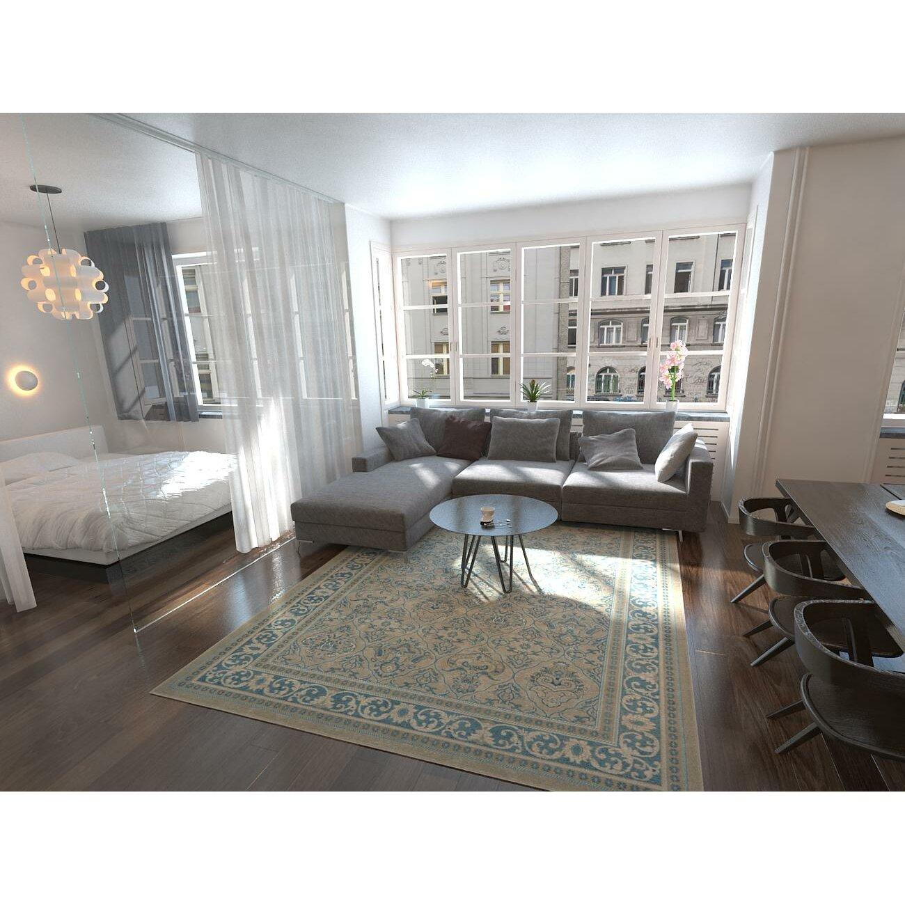 Area rug · lark manor luella beigeblue
