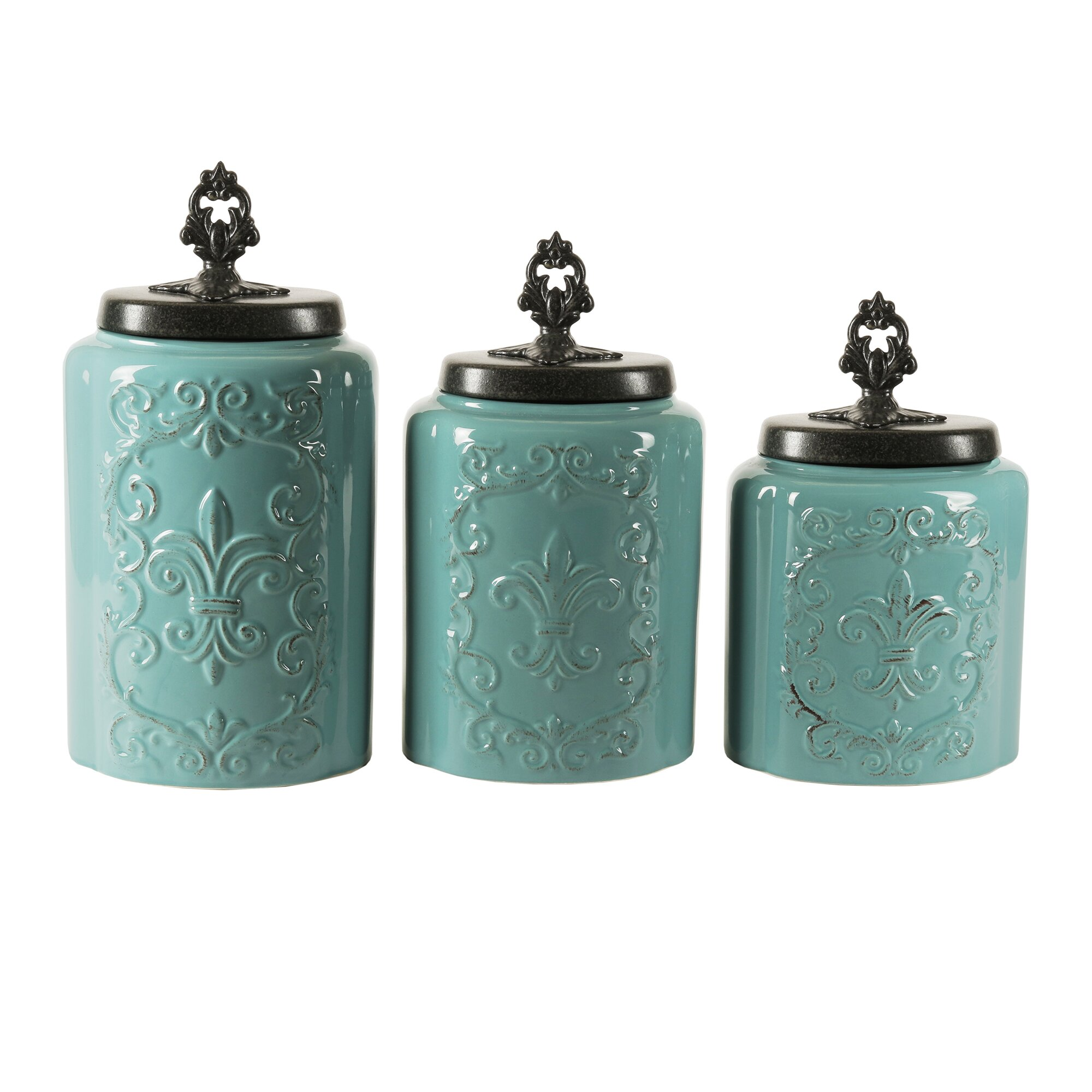 lark manor 3 piece kitchen canister set amp reviews wayfair ca