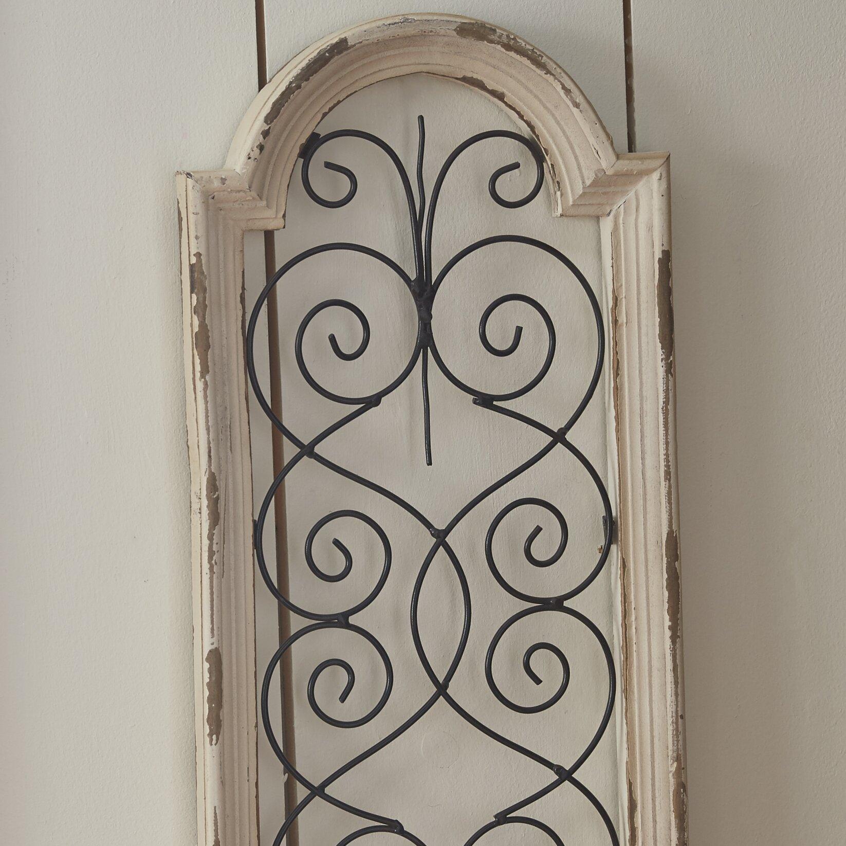 Lark Manoru0026trade; Ivory Wood/Metal Wall ...