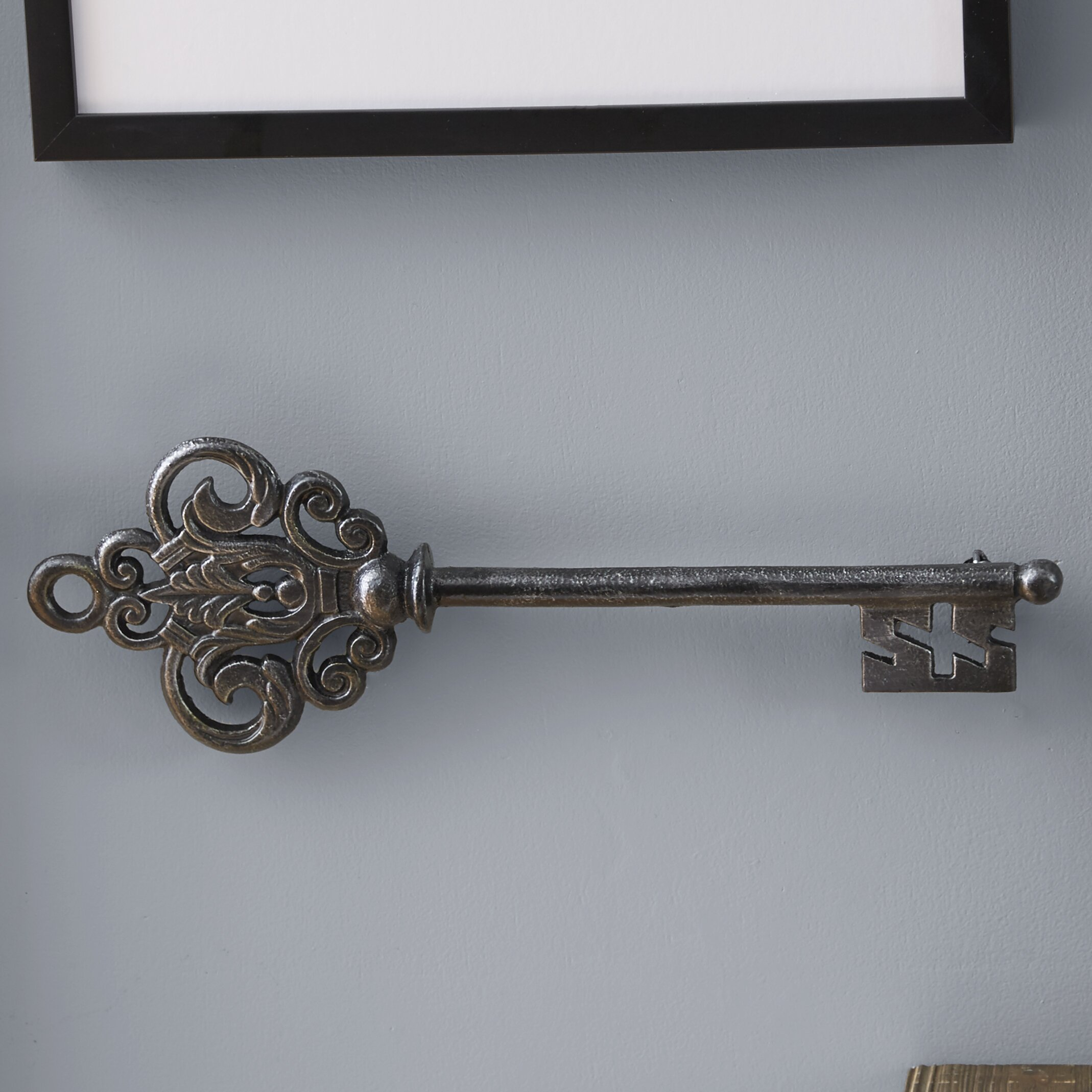 Black Iron Wall Decor Lark Manor Black Metal Key Wall Dccor Reviews Wayfair