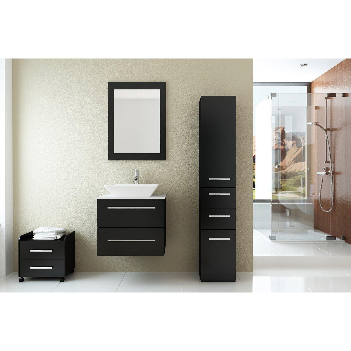 "jwh living carina "" single wall mounted bathroom vanity set, Bathroom decor"